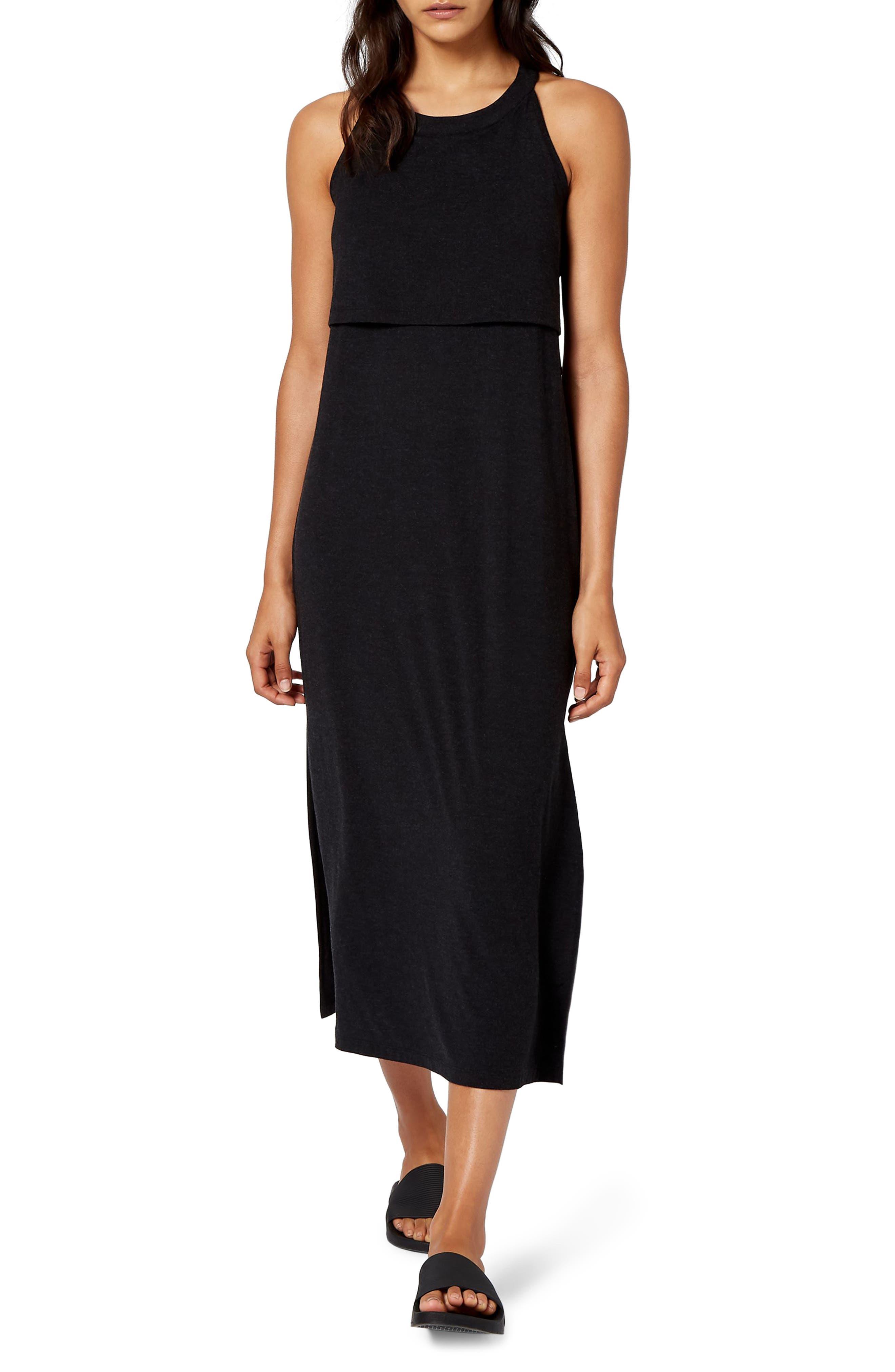Holistic Dress,                         Main,                         color, BLACK MARL
