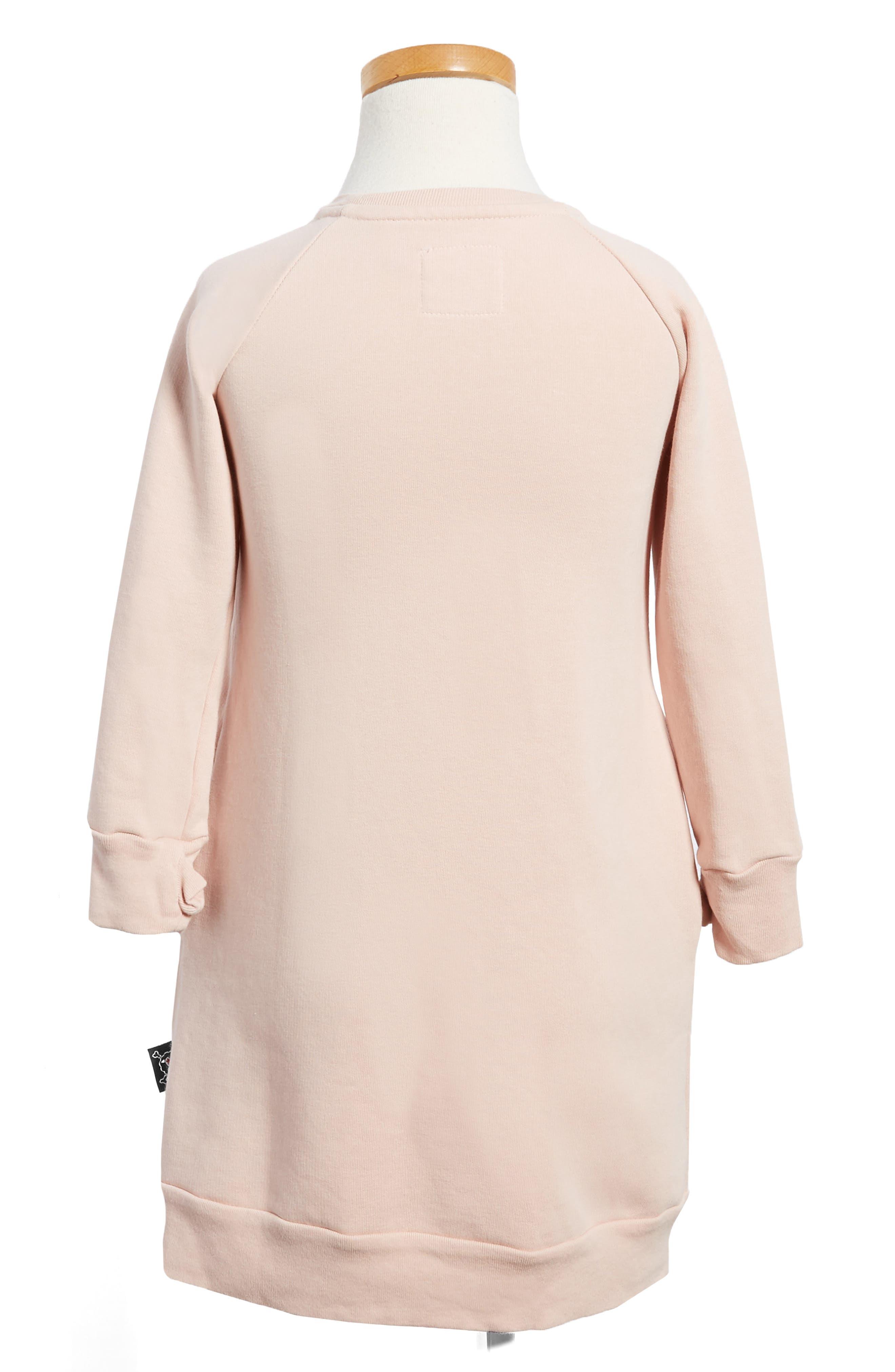 Puffy Number Sweashirt Dress,                             Alternate thumbnail 4, color,