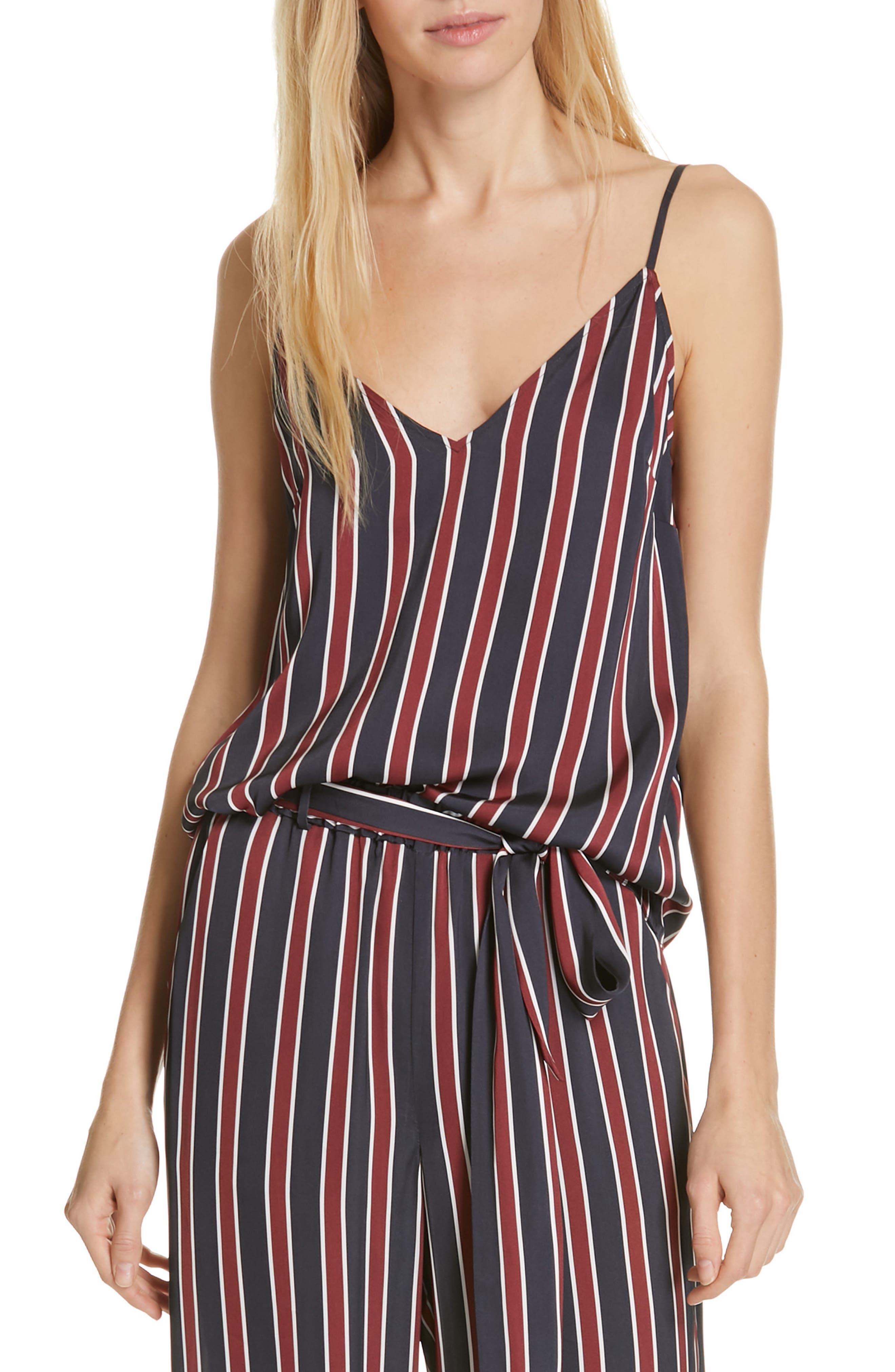 Stripe Camisole, Main, color, NAVY MULTI