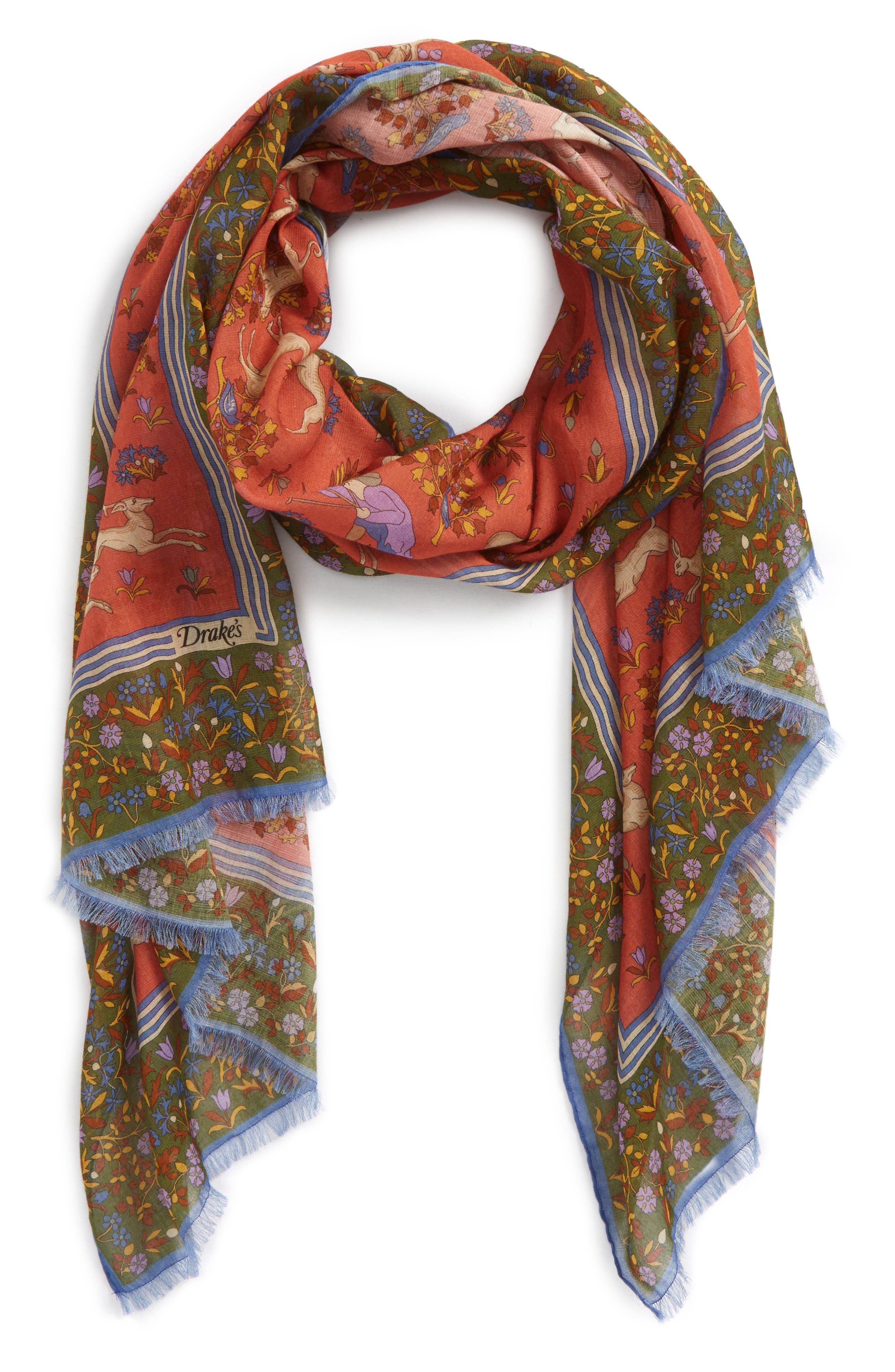 Hunting Print Scarf,                             Main thumbnail 1, color,