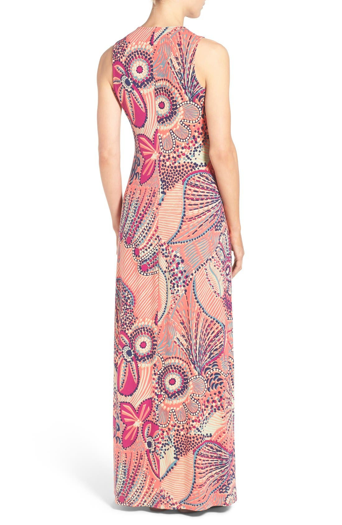'Carnival Lights' Print V-Neck Maxi Dress,                             Alternate thumbnail 2, color,                             950