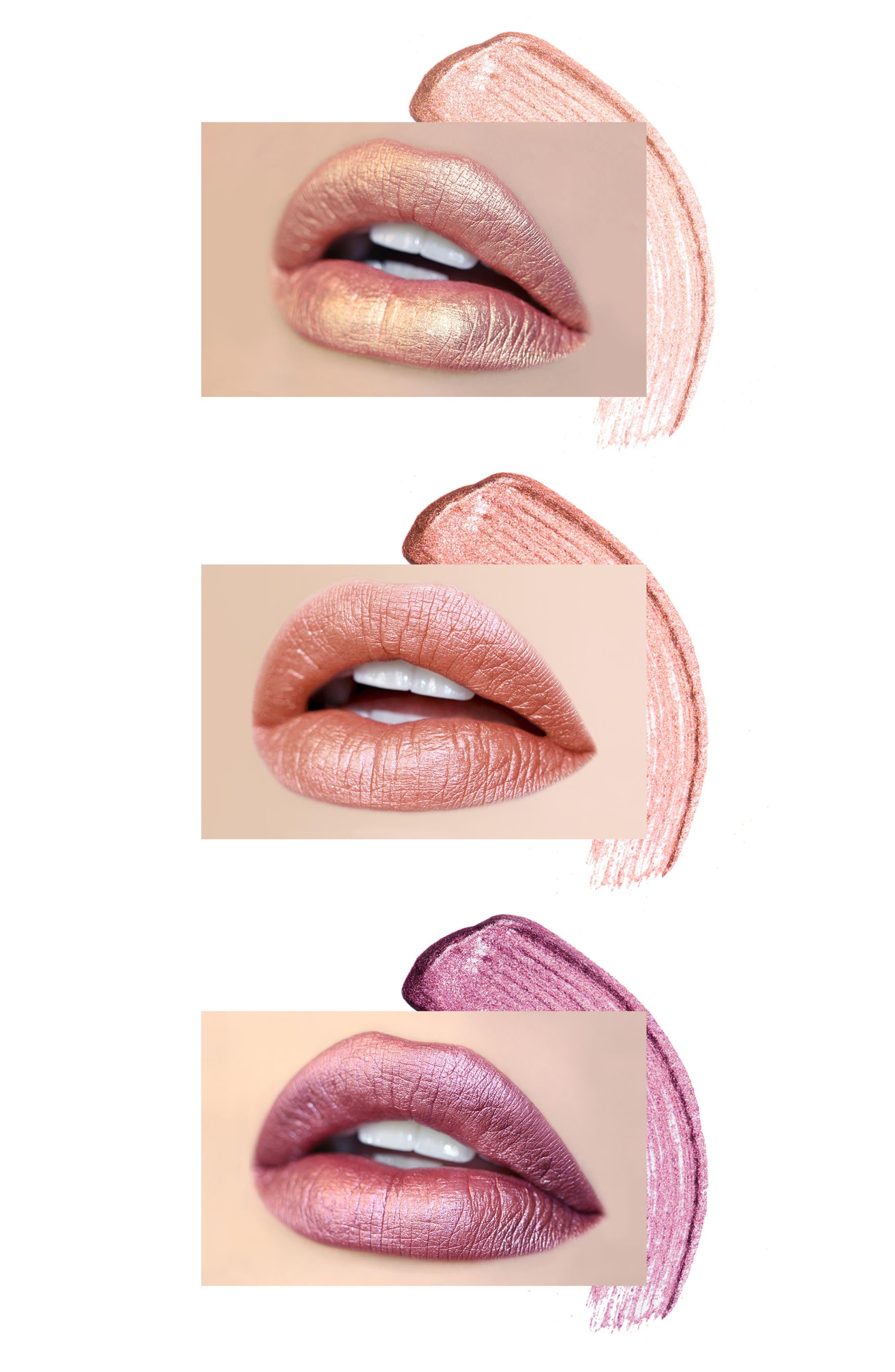 Best of Metallics Mini Long-Wear Lip Crème Liquid Lipstick Collection,                             Alternate thumbnail 4, color,                             000