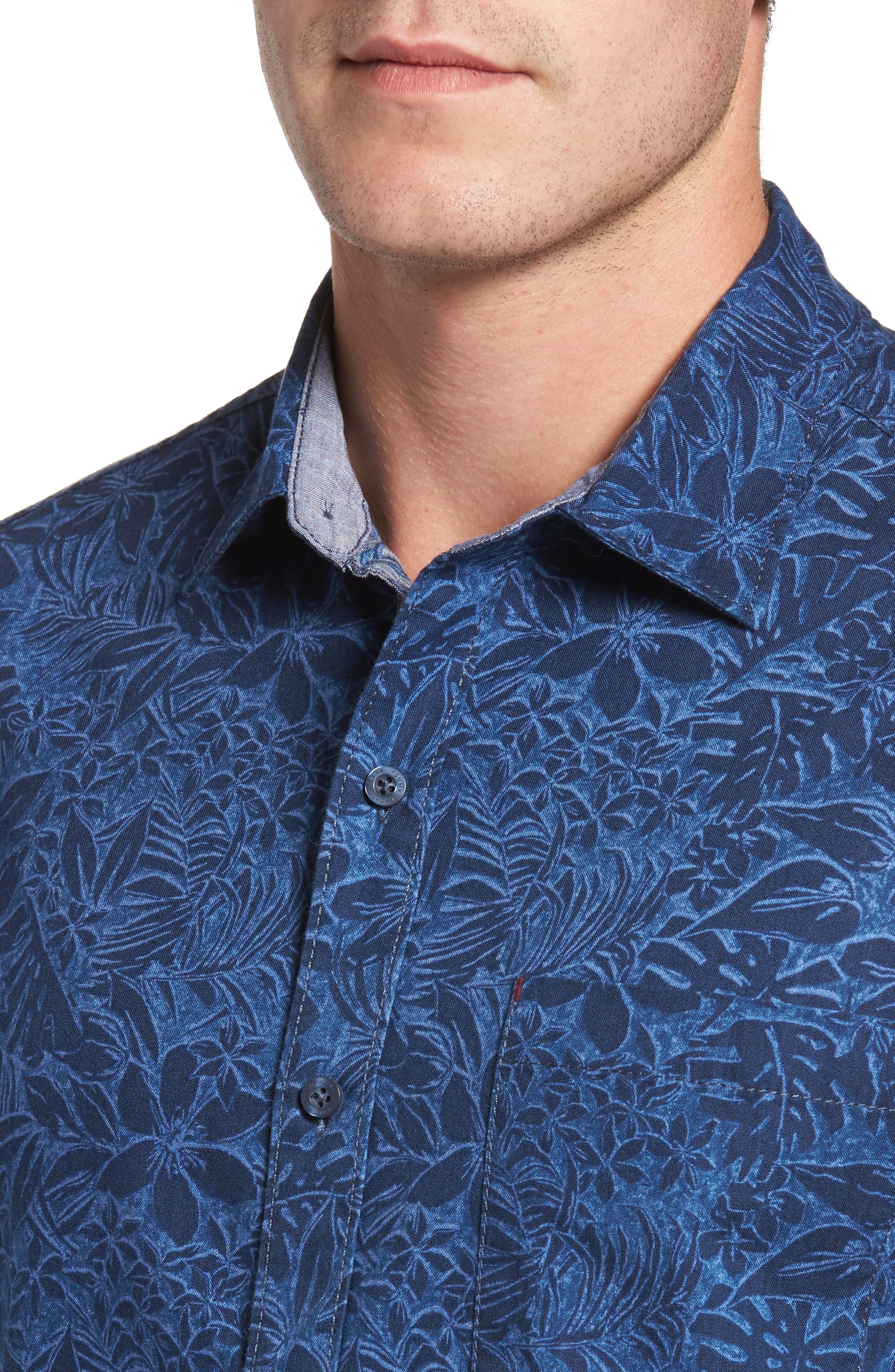 Safari Stinger Standard Fit Sport Shirt,                             Alternate thumbnail 4, color,                             021