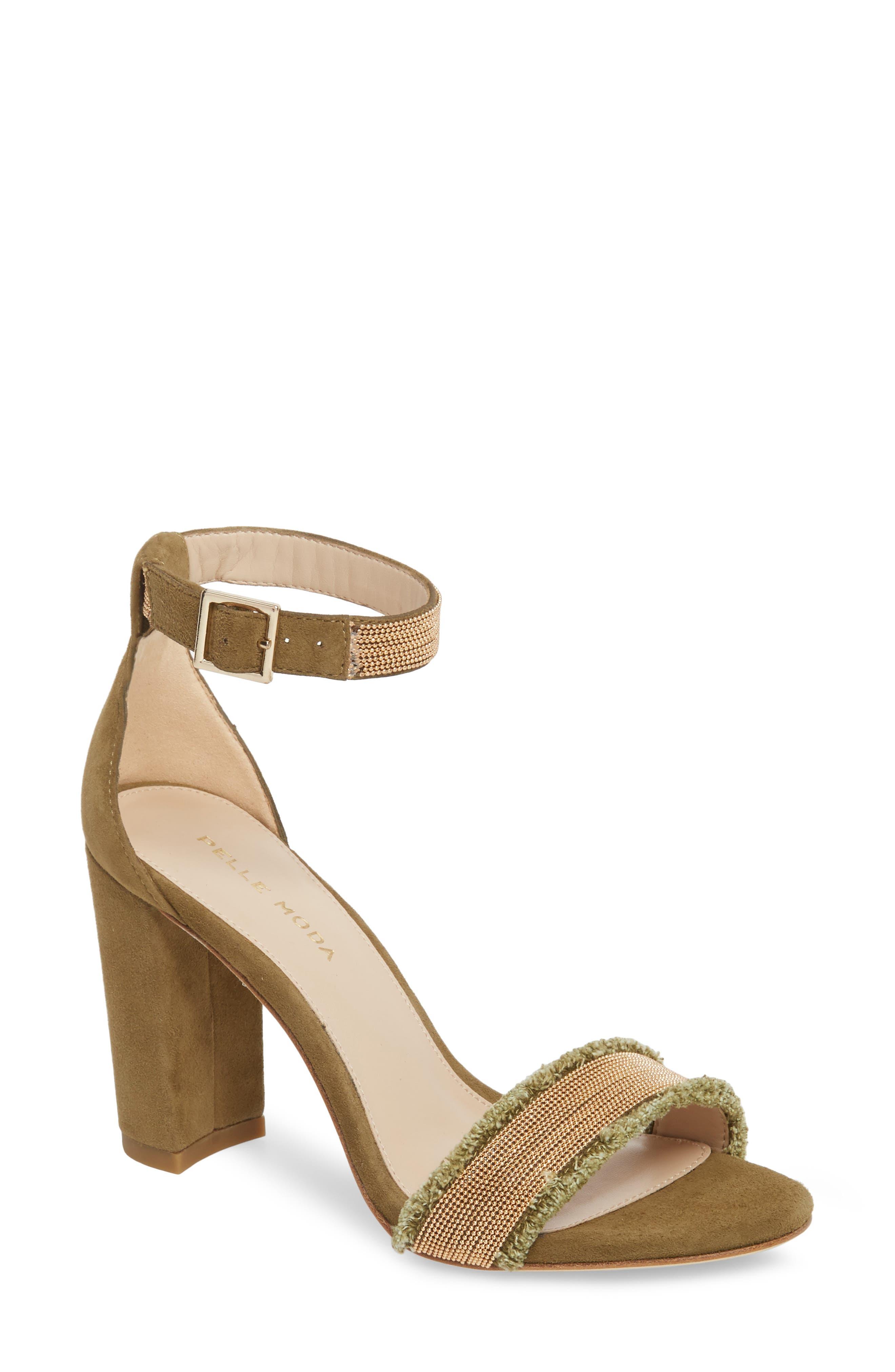 Bonnie6 Embellished Sandal,                             Main thumbnail 1, color,                             KHAKI SUEDE