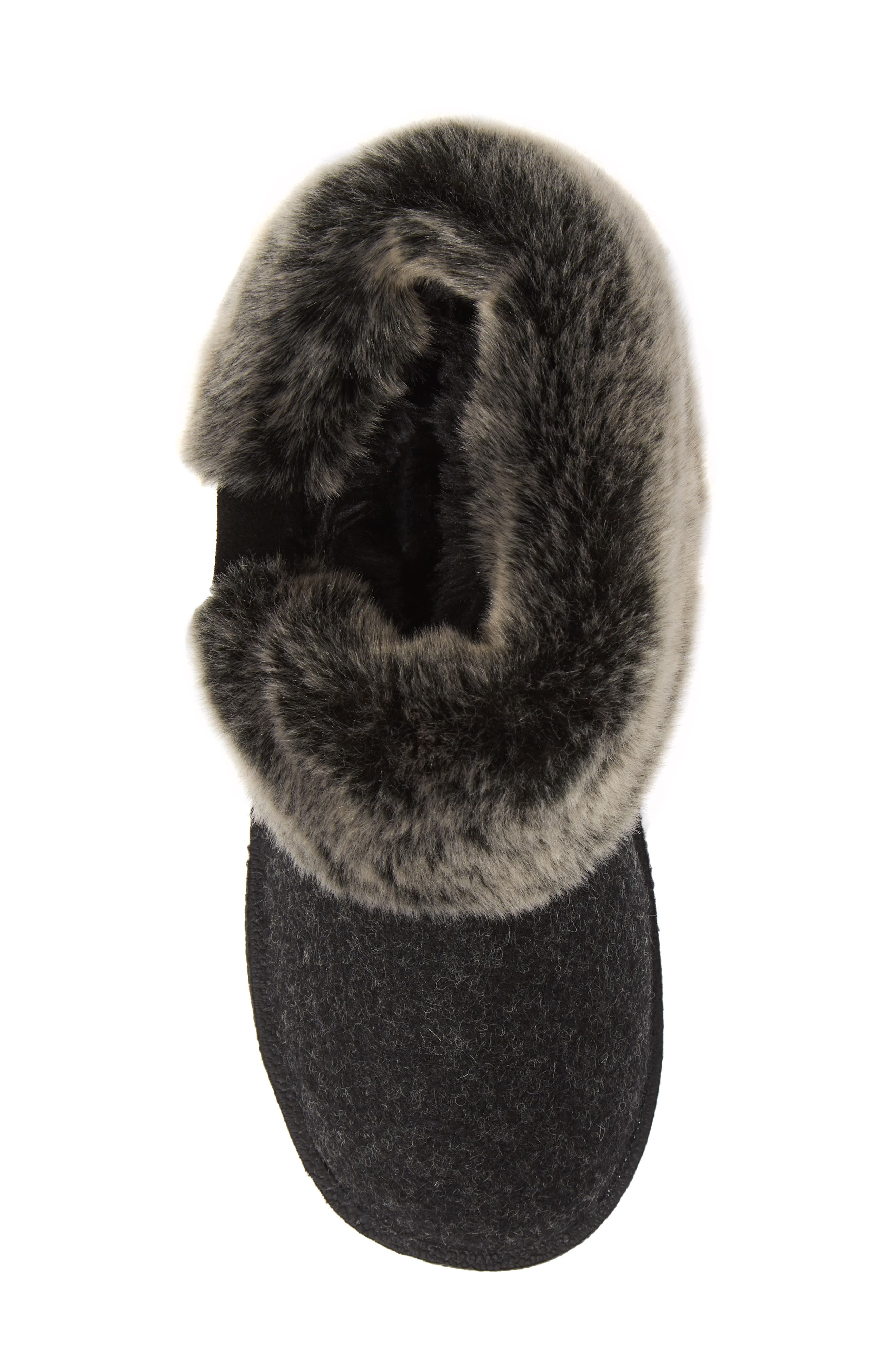 Grand Lodge Slipper,                             Alternate thumbnail 5, color,                             BLACK WOOL