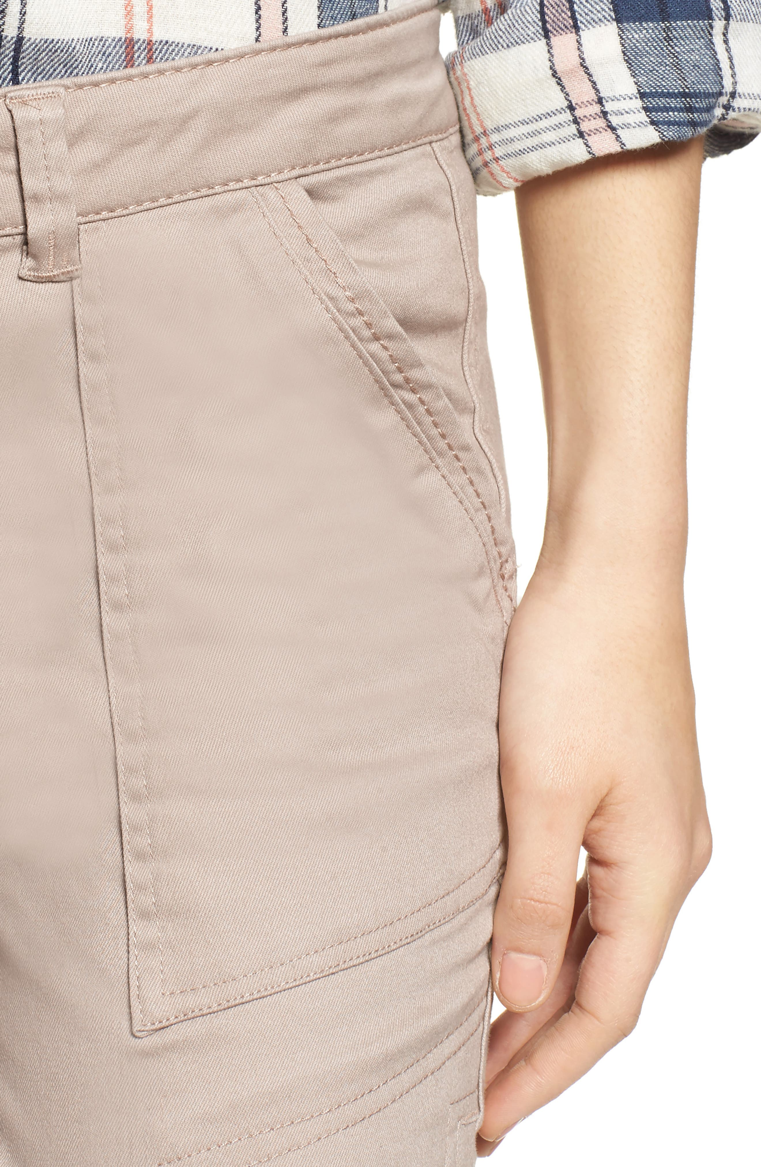 Twill Cargo Pants,                             Alternate thumbnail 4, color,                             FLAX