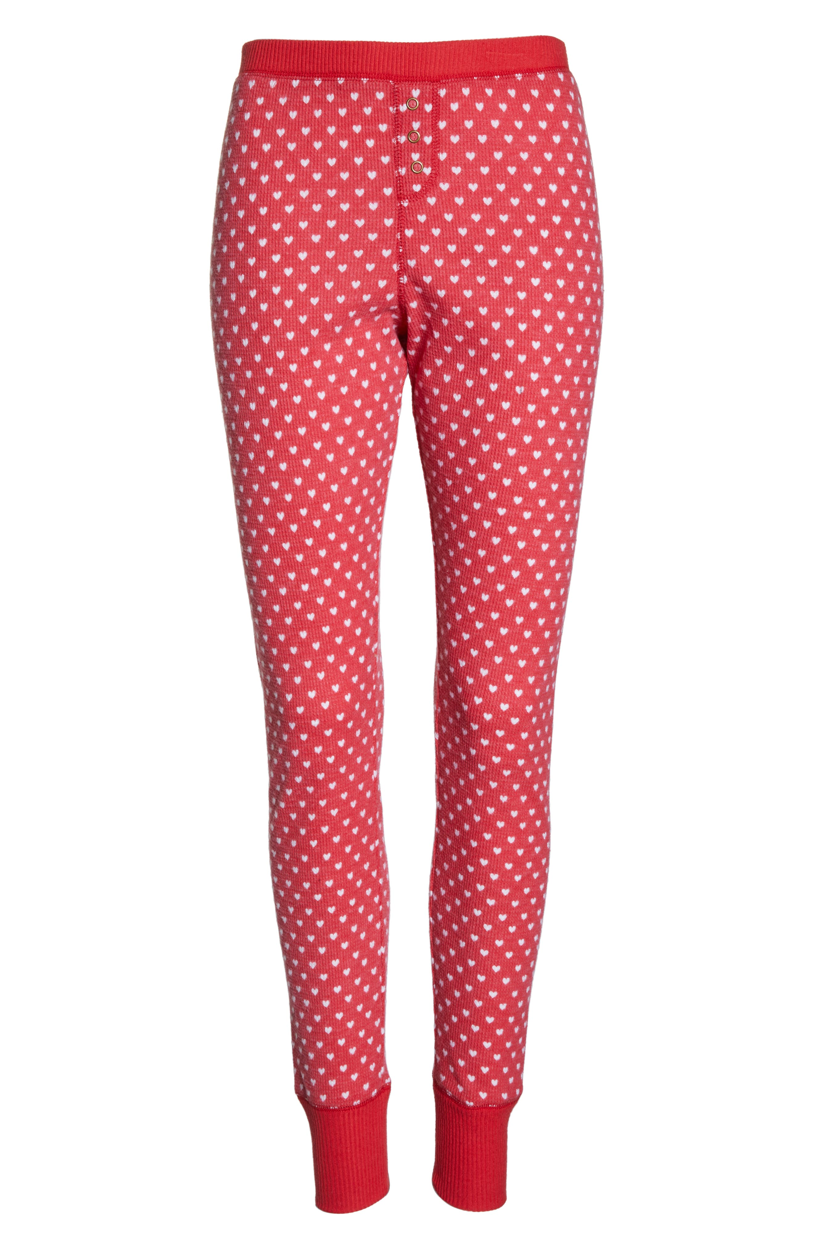 Thermal Leggings,                             Alternate thumbnail 6, color,                             RED LIPSTICK HEART