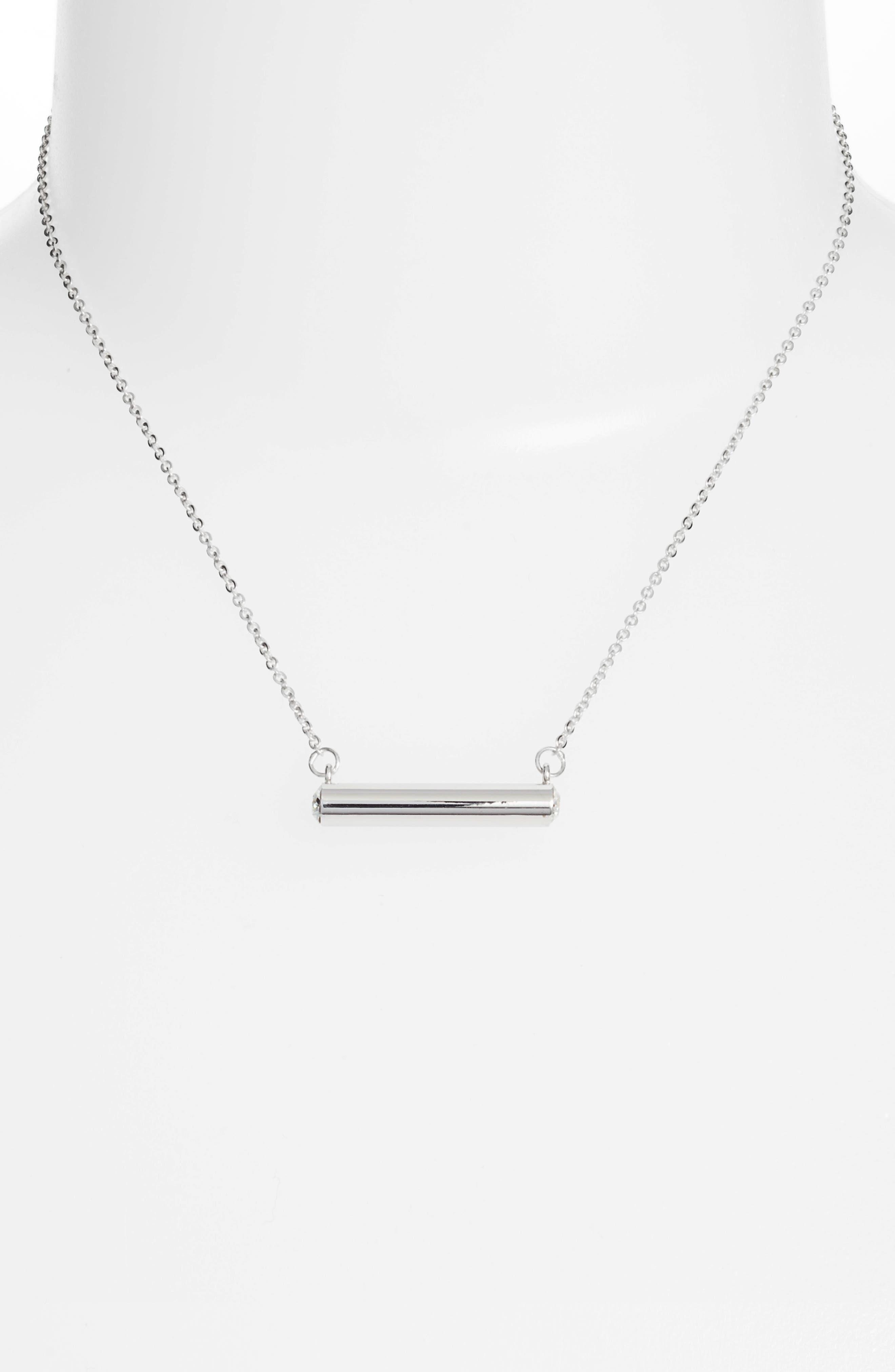 Stella Vale April Crystal Bar Pendant Necklace,                             Alternate thumbnail 2, color,                             040