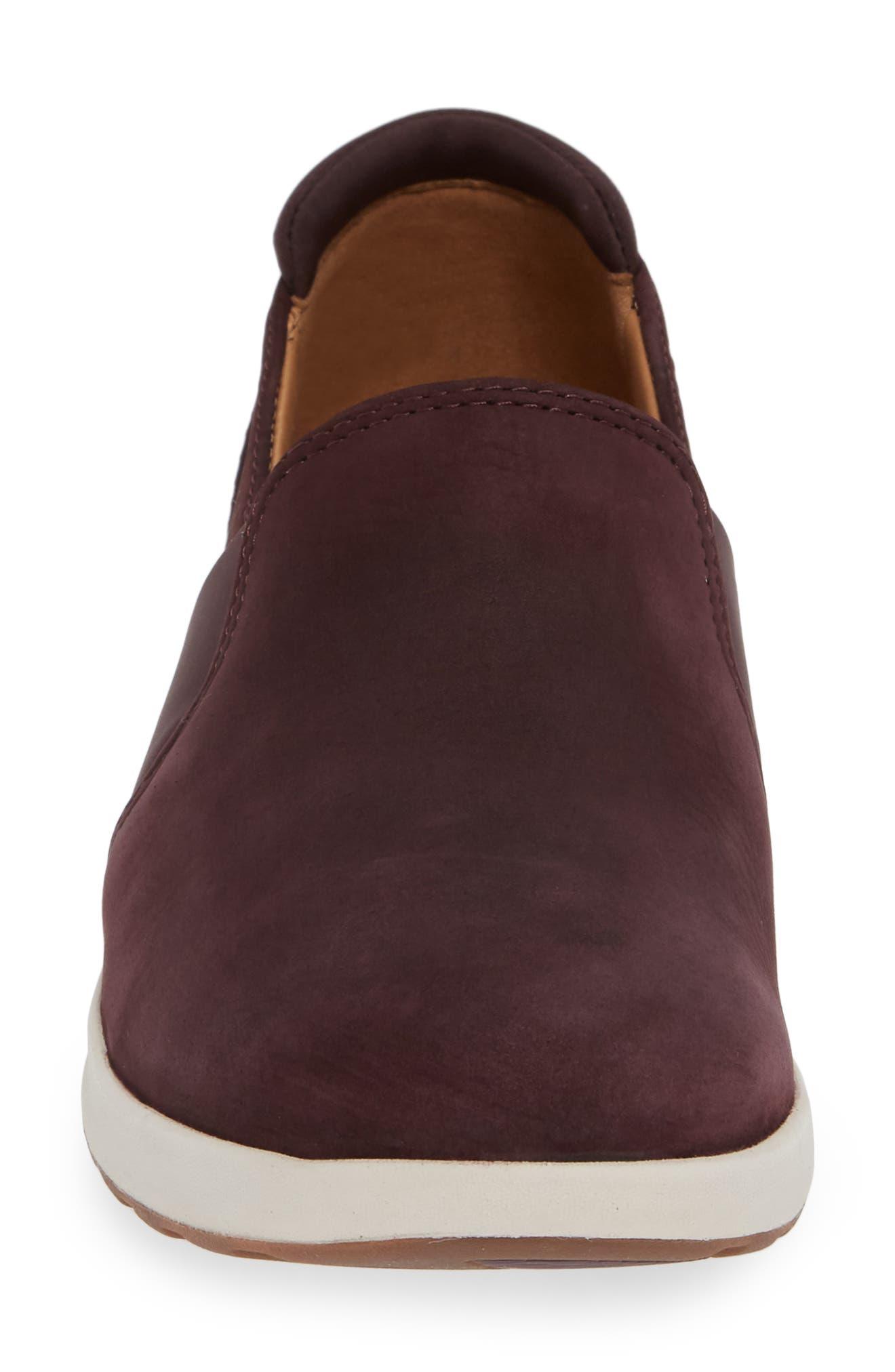 Un Adorn Step Sneaker,                             Alternate thumbnail 4, color,                             BURGUNDY NUBUCK