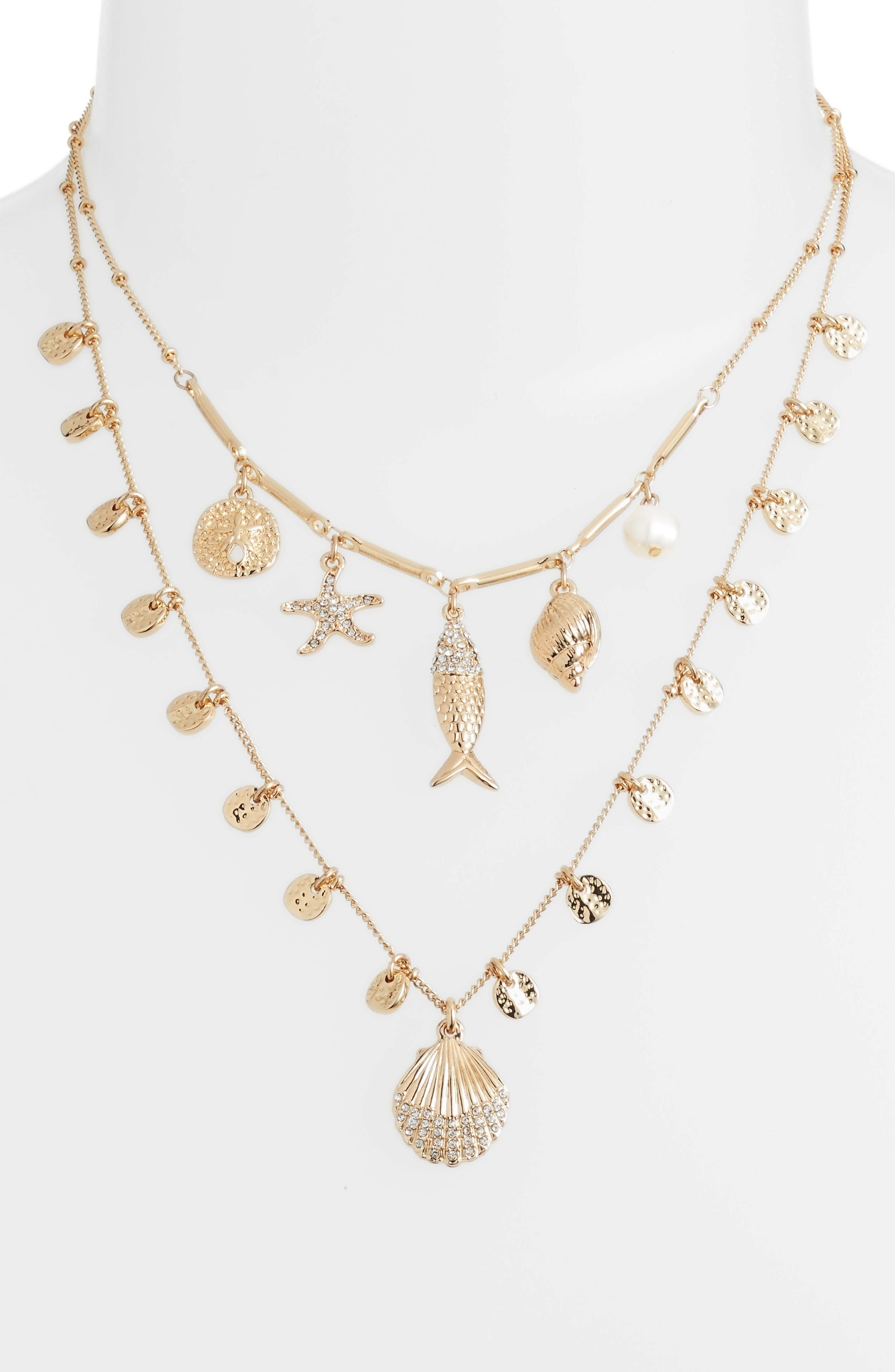 Sofishticated Pendant Necklace,                             Alternate thumbnail 2, color,                             GOLD METALLIC