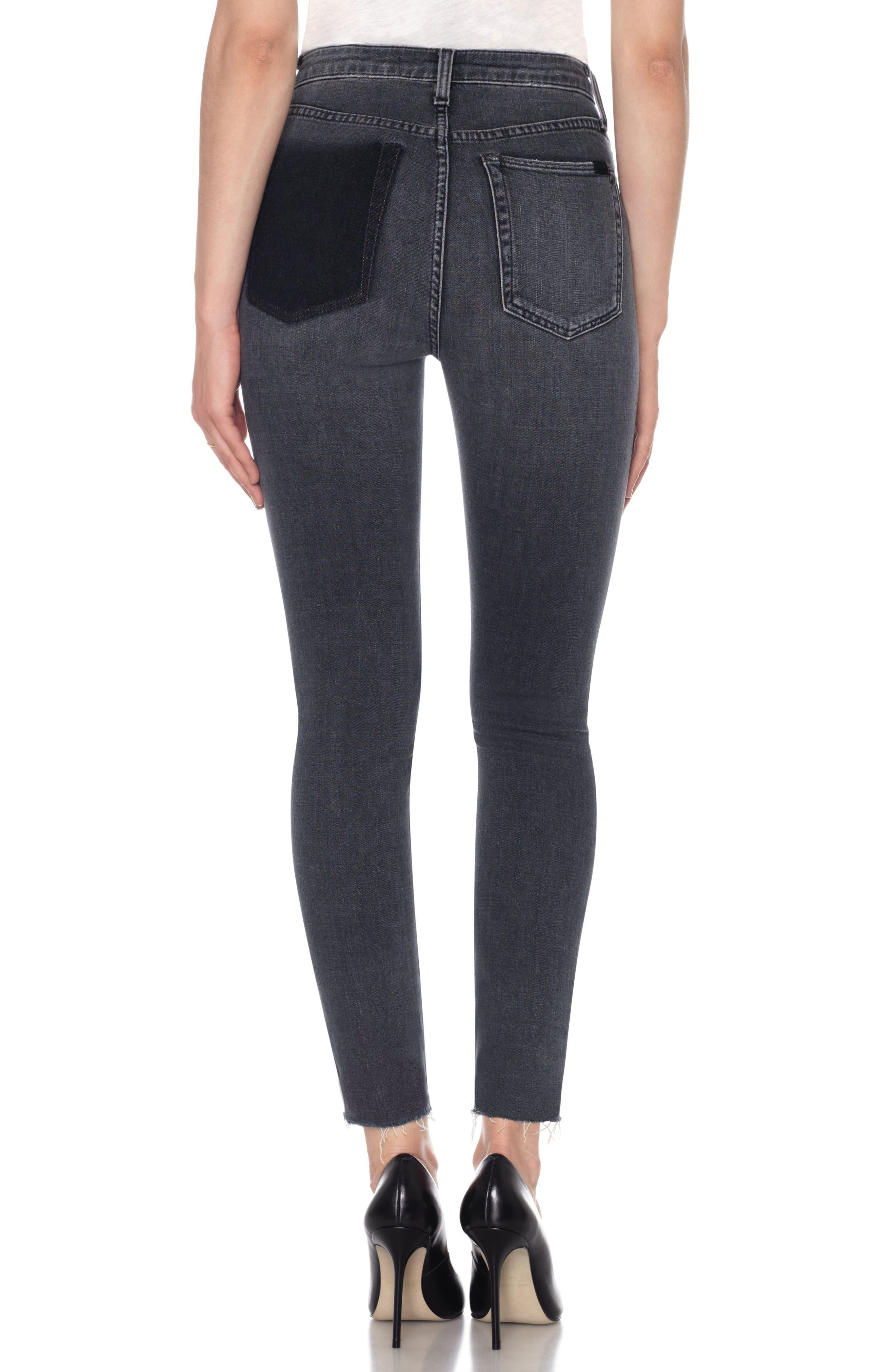 Charlie High Waist Ankle Skinny Jeans,                             Alternate thumbnail 2, color,                             010
