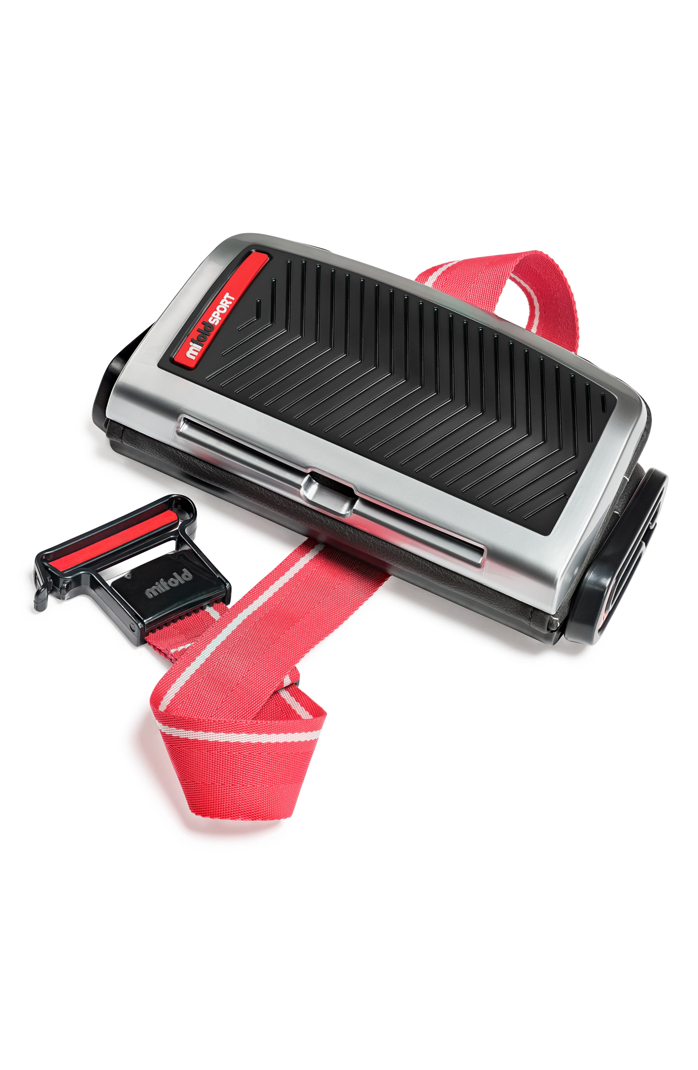 Sport Grab-and-Go Booster Seat,                             Alternate thumbnail 2, color,                             BLACK/ GREY/ RED