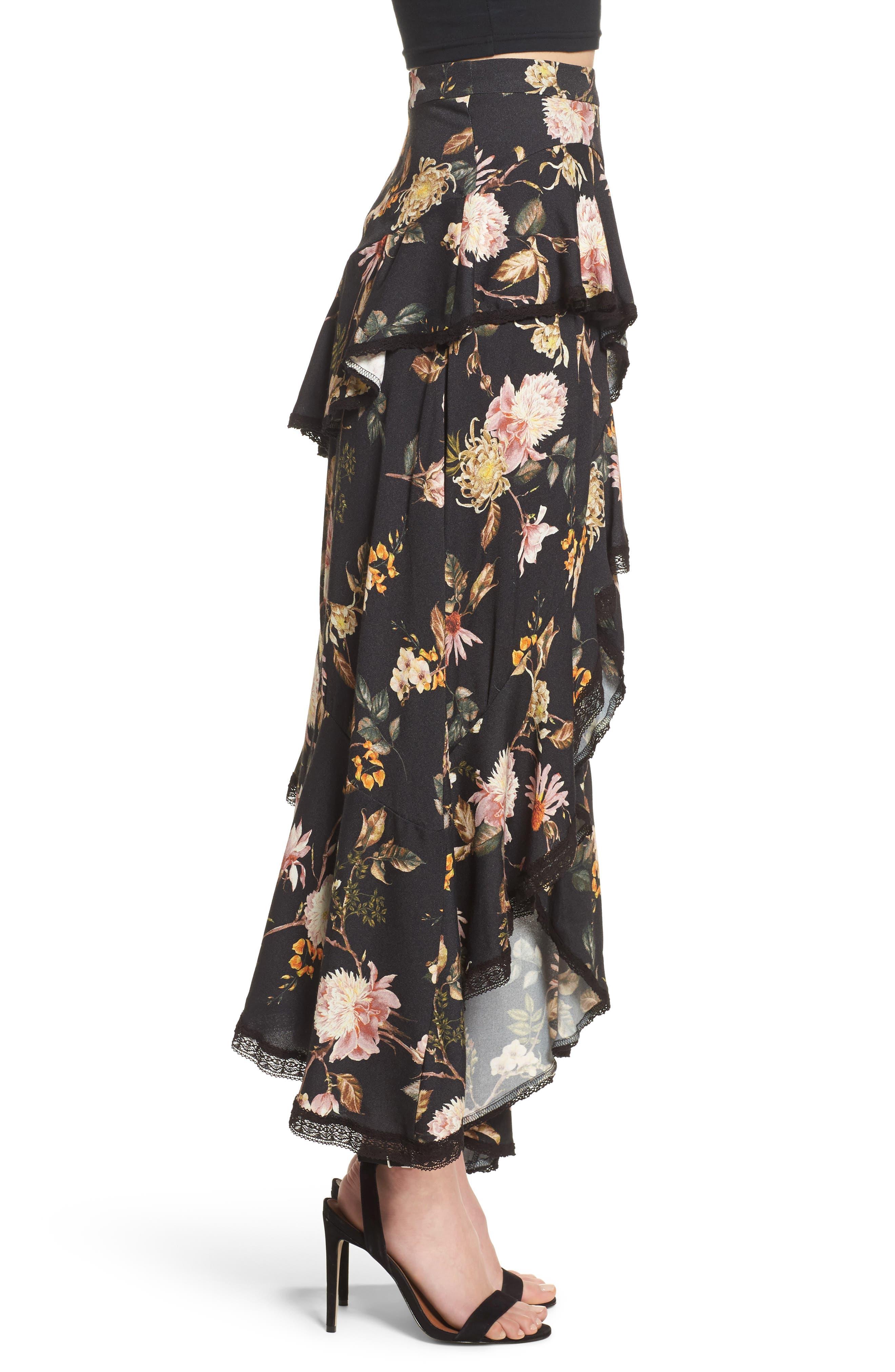 Grace Asymmetrical Ruffle Skirt,                             Alternate thumbnail 6, color,