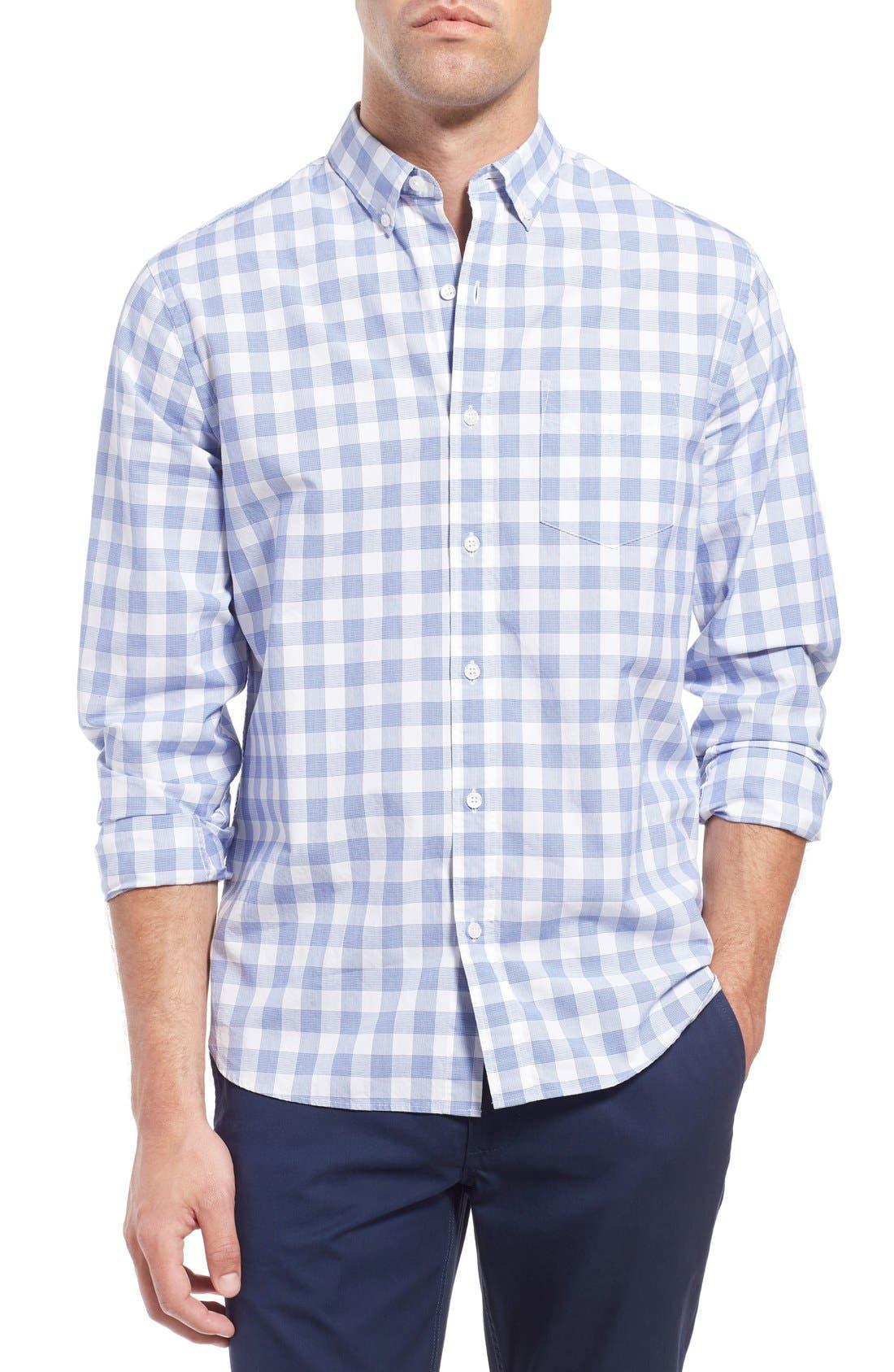 Slim Fit Check Sport Shirt,                         Main,                         color, 400