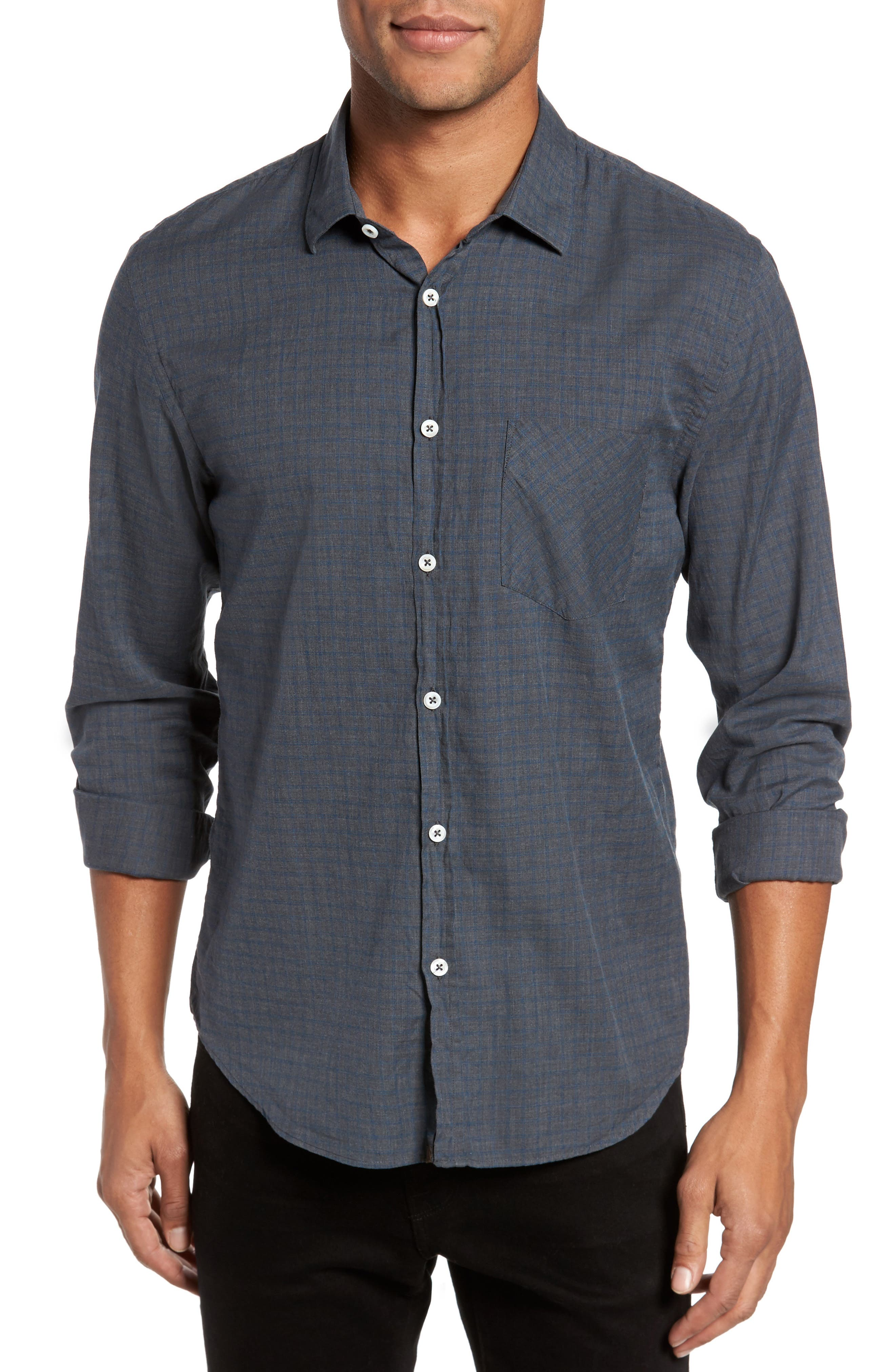 Kirby Slim Fit Check Sport Shirt,                         Main,                         color, 032