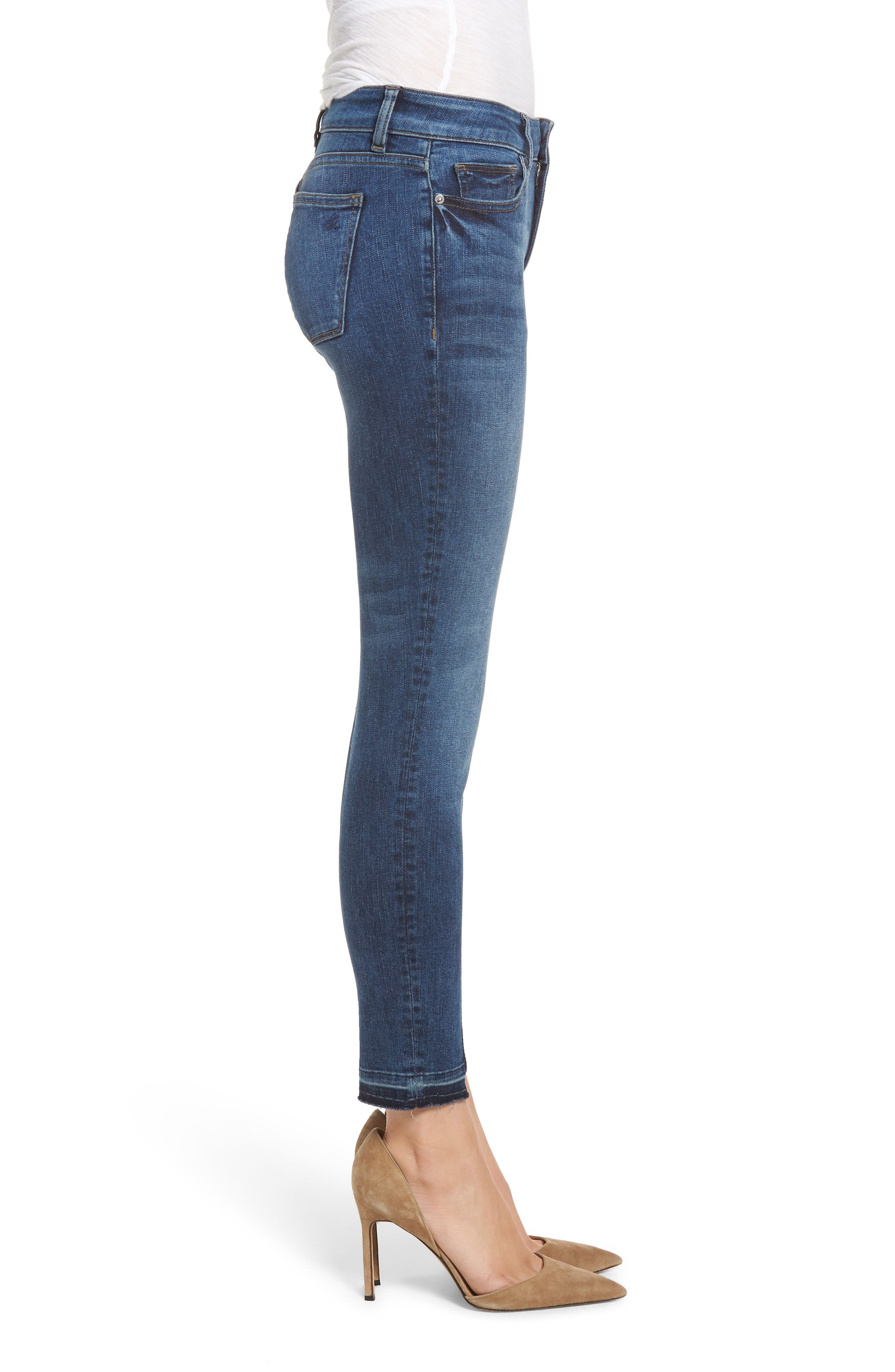 Florence Instasculpt Crop Skinny Jeans,                             Alternate thumbnail 3, color,                             KODY