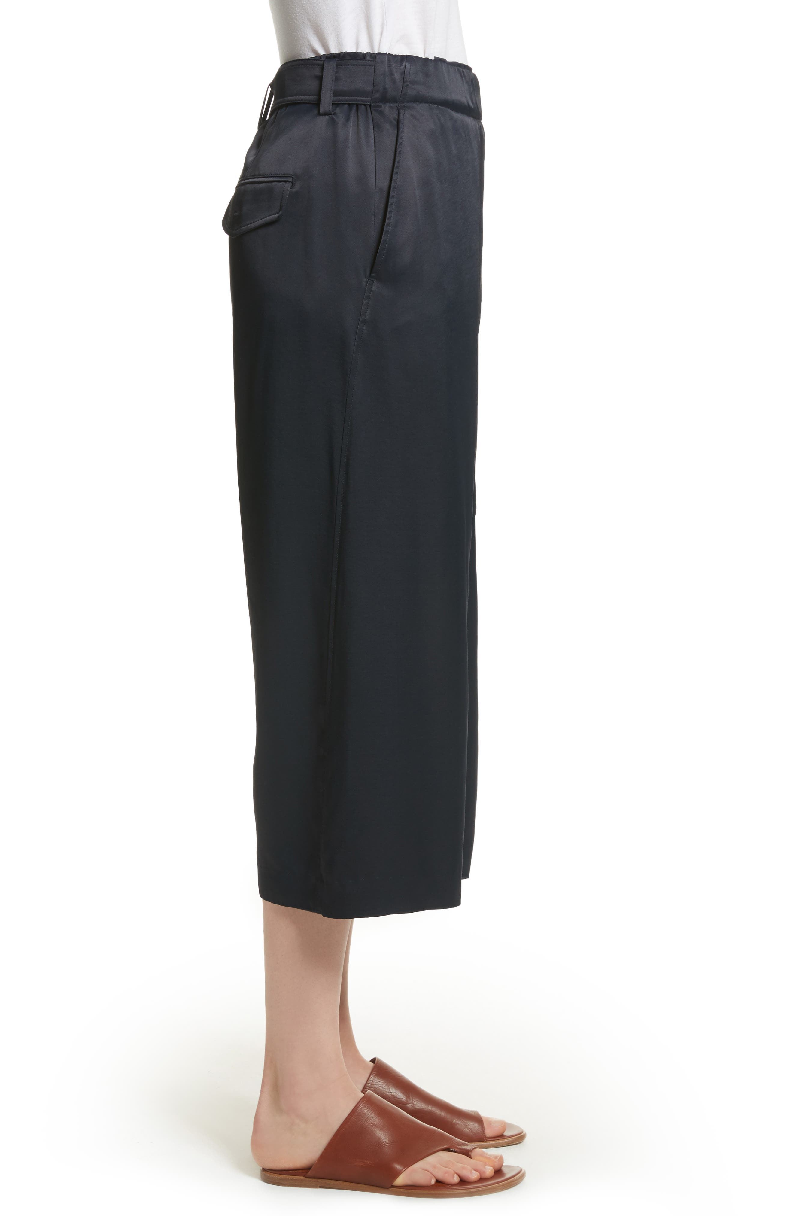 Belted Crossover Culottes,                             Alternate thumbnail 5, color,