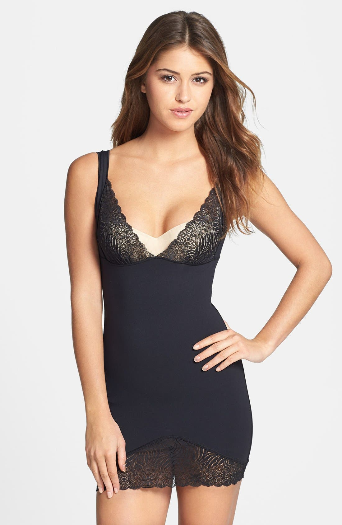 SIMONE PERELE 'Top Model' Shaper Dress, Main, color, 001
