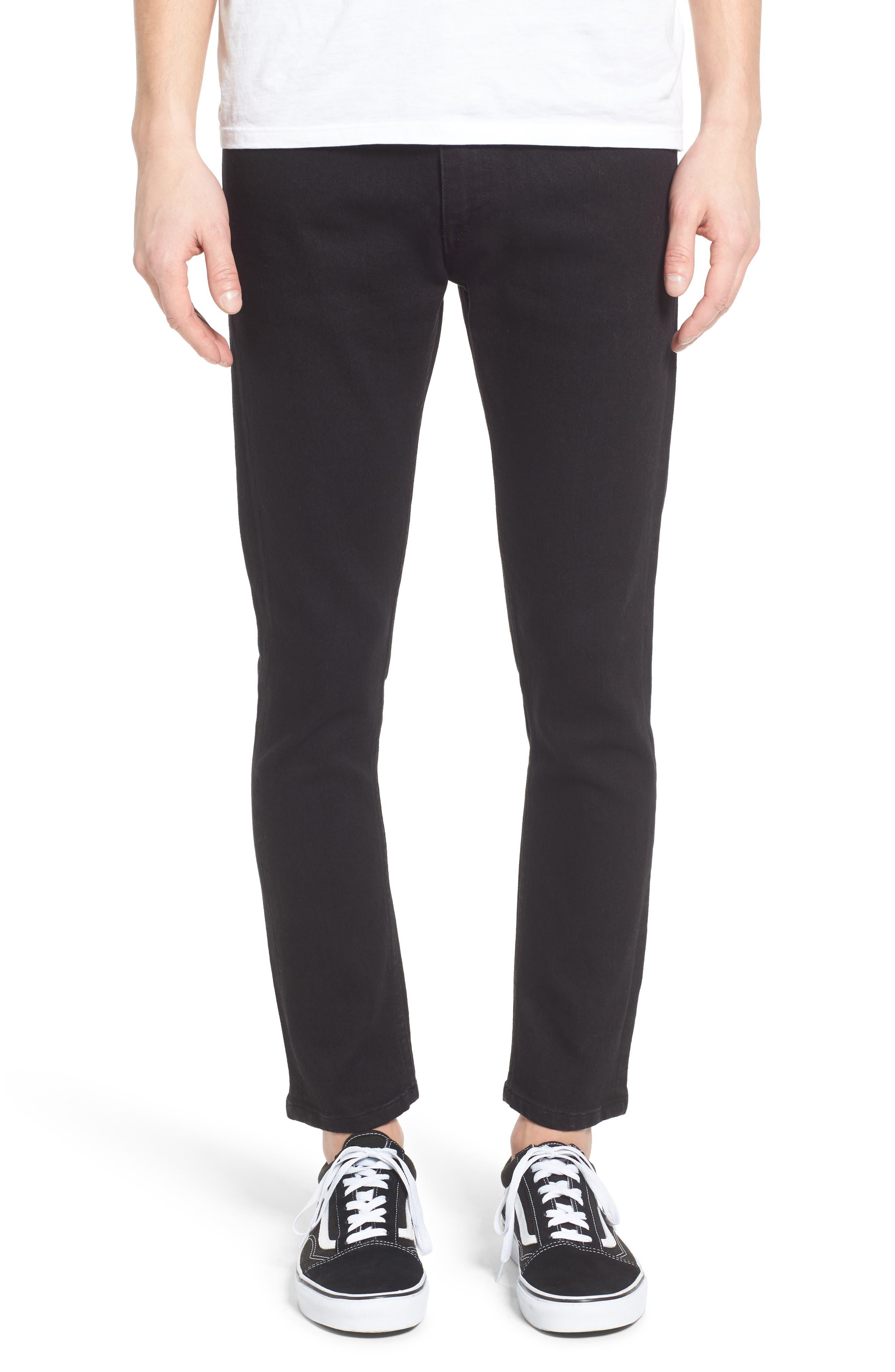 Juvee II Flooded Skinny Fit Jeans, Main, color, 001