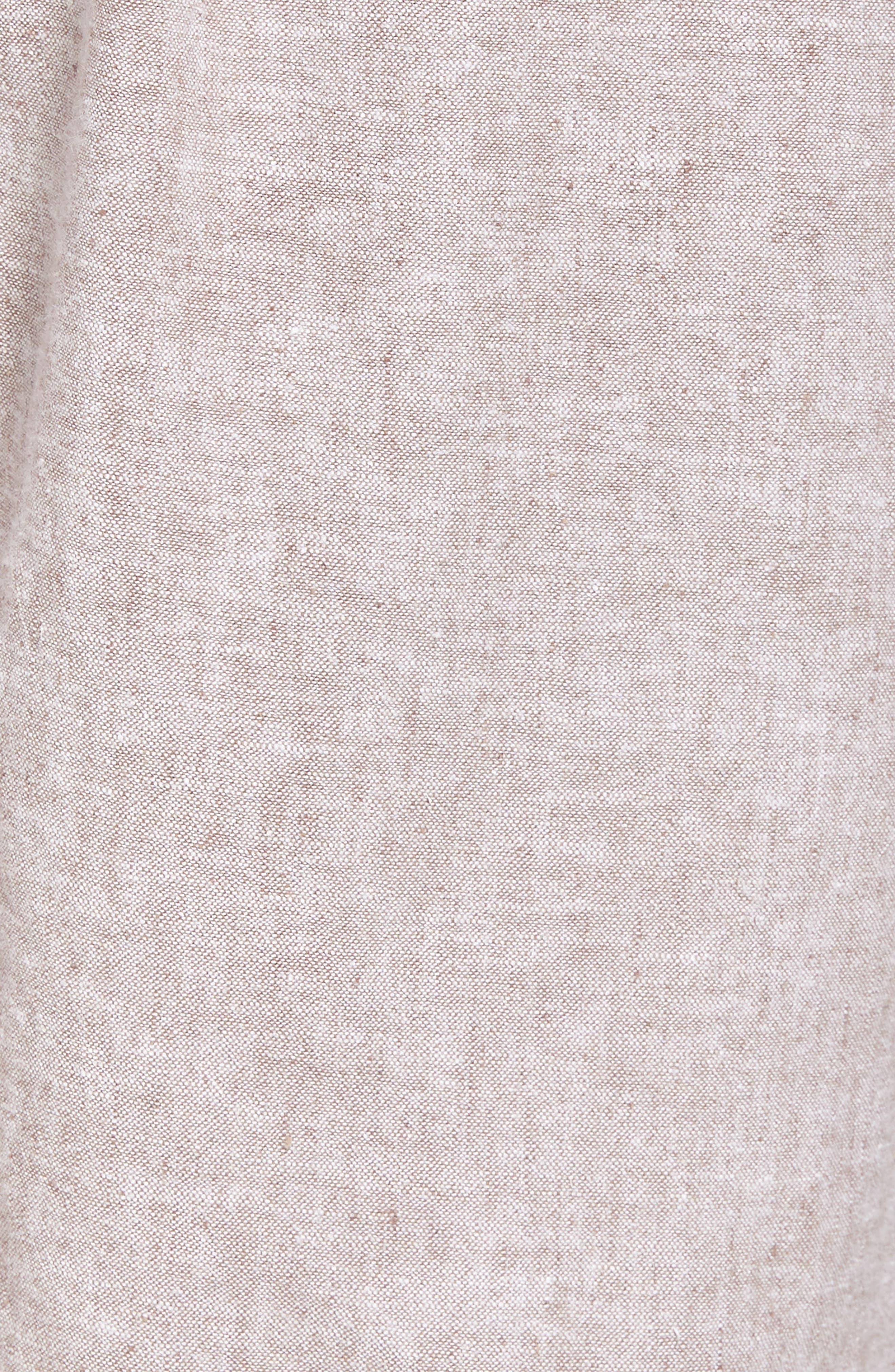 Drawstring Linen Blend Shorts,                             Alternate thumbnail 5, color,                             235