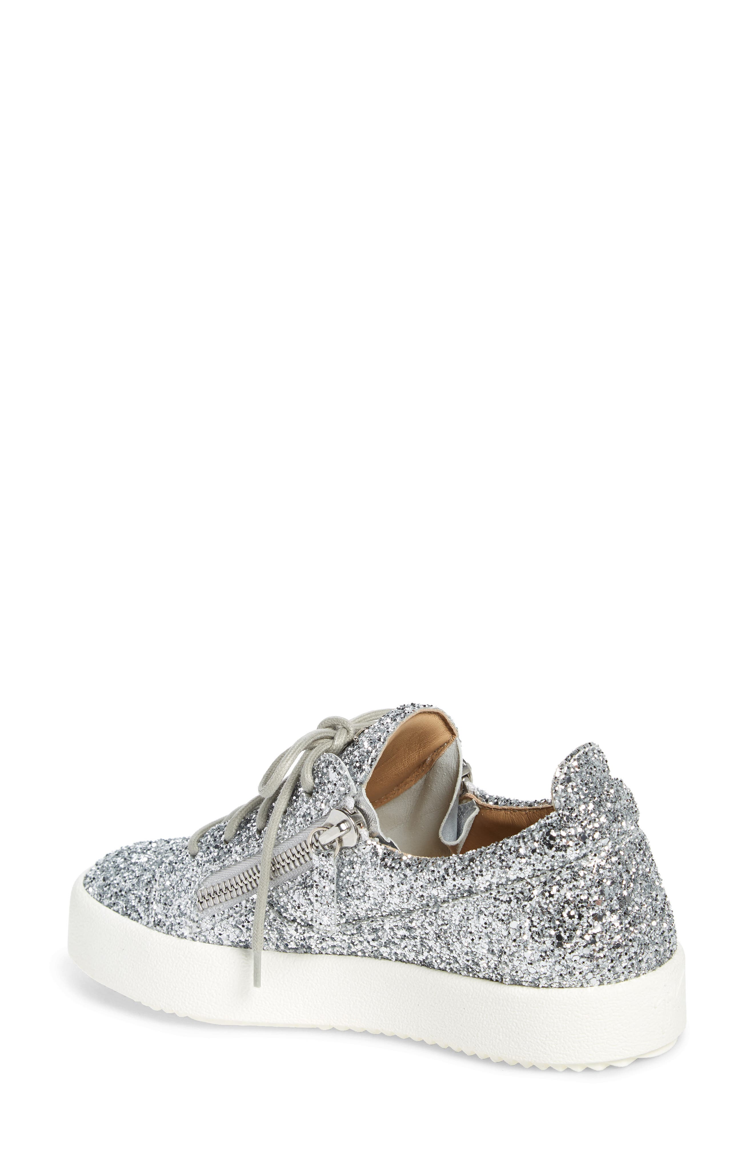 May London Low Top Sneaker,                             Alternate thumbnail 2, color,                             SILVER GLITTER