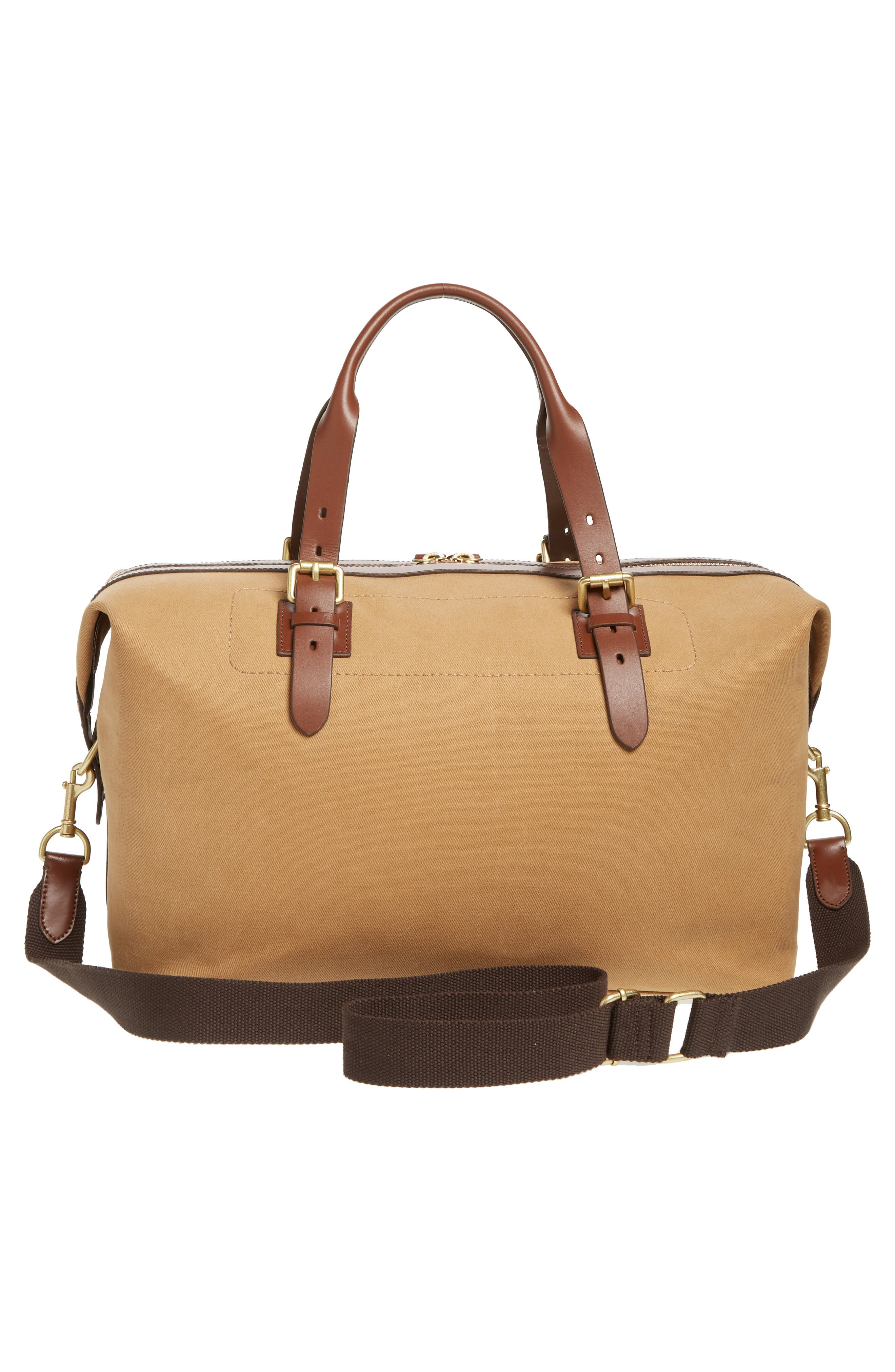 Canvas Duffel Bag,                             Alternate thumbnail 3, color,                             ICED COFFEE