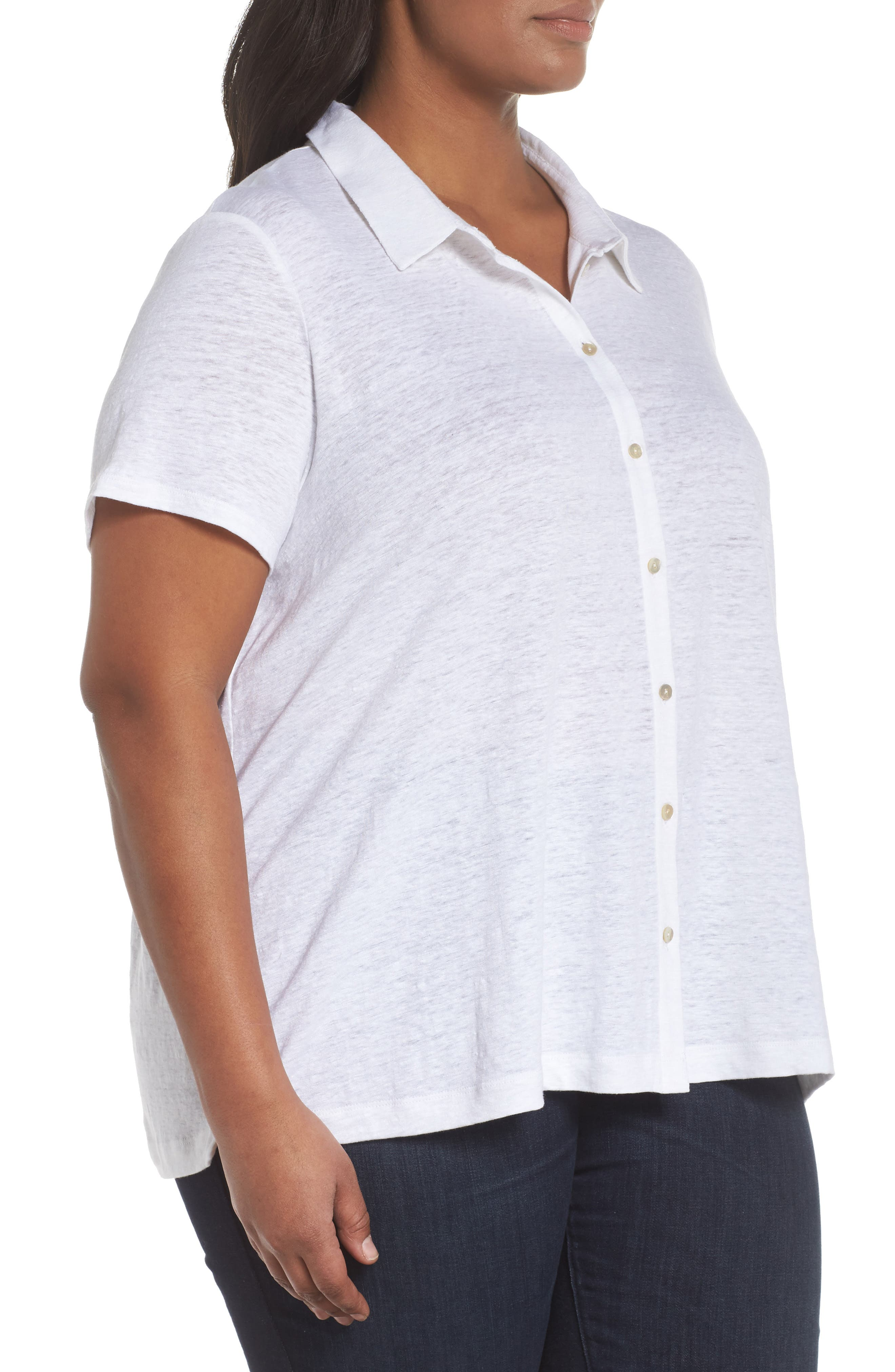 Organic Linen Top,                             Alternate thumbnail 9, color,