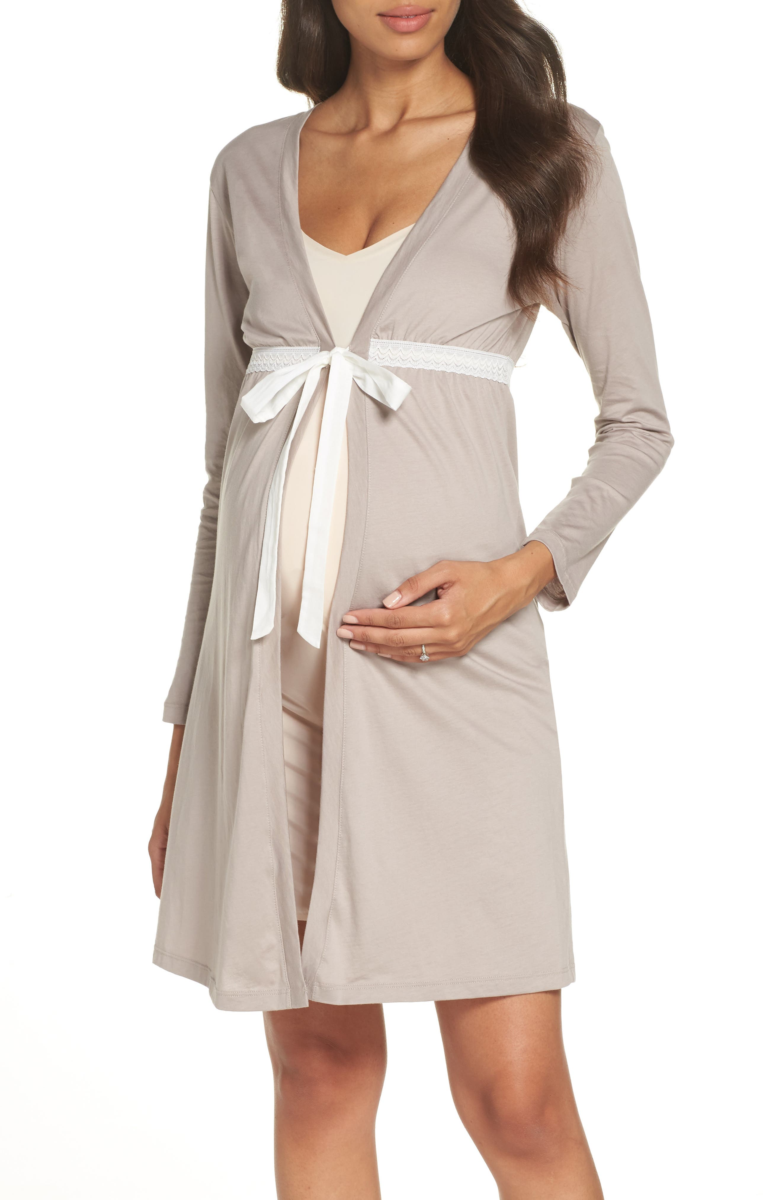 cf5ec88261c52 Grey BELABUMBUM Maternity/nursing Robe 8 - 10 (M) on COOLS
