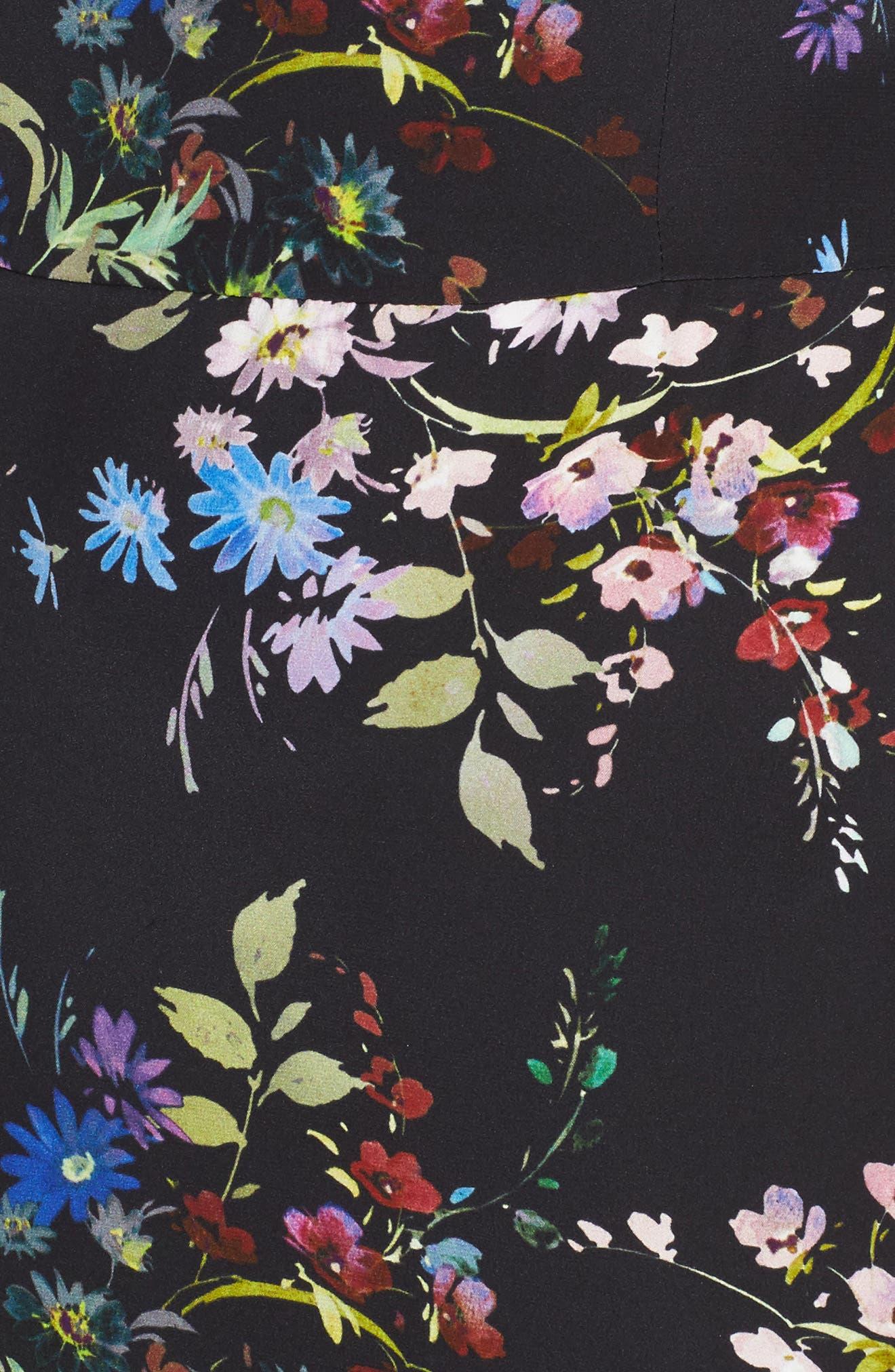 Rine One-Shoulder Silk Dress,                             Alternate thumbnail 5, color,                             016