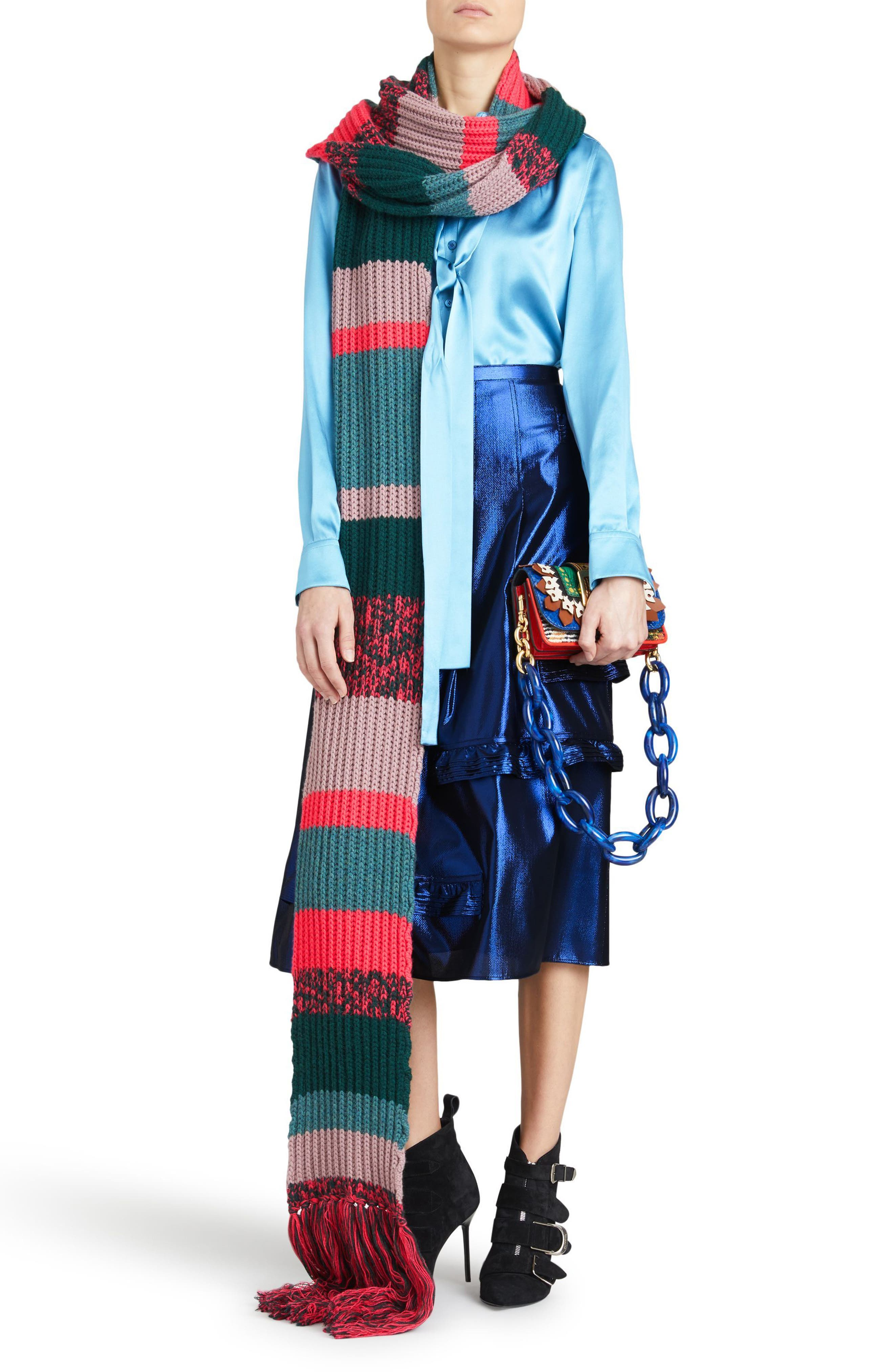 Merse Metallic Ruffle Skirt,                             Alternate thumbnail 6, color,                             410