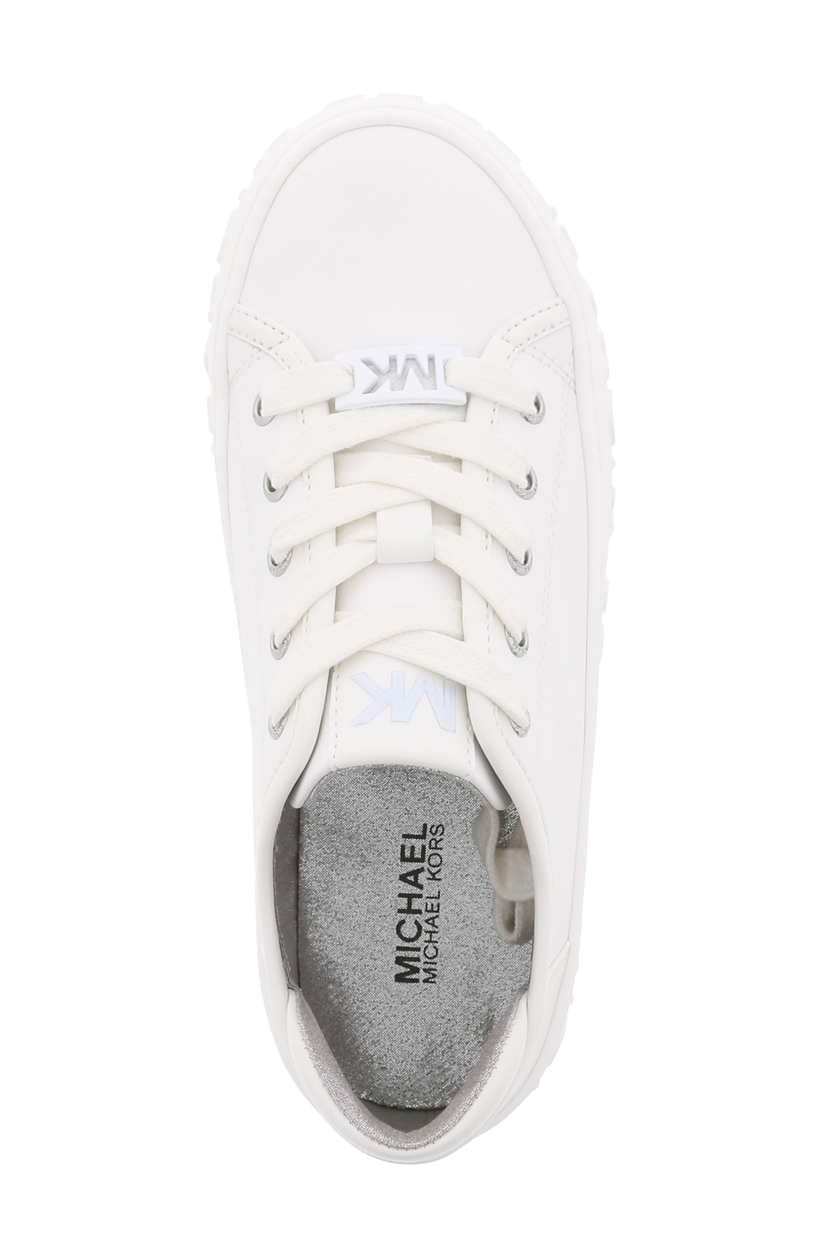 Lemon Spark Logo Sneaker,                             Alternate thumbnail 5, color,                             WHITE