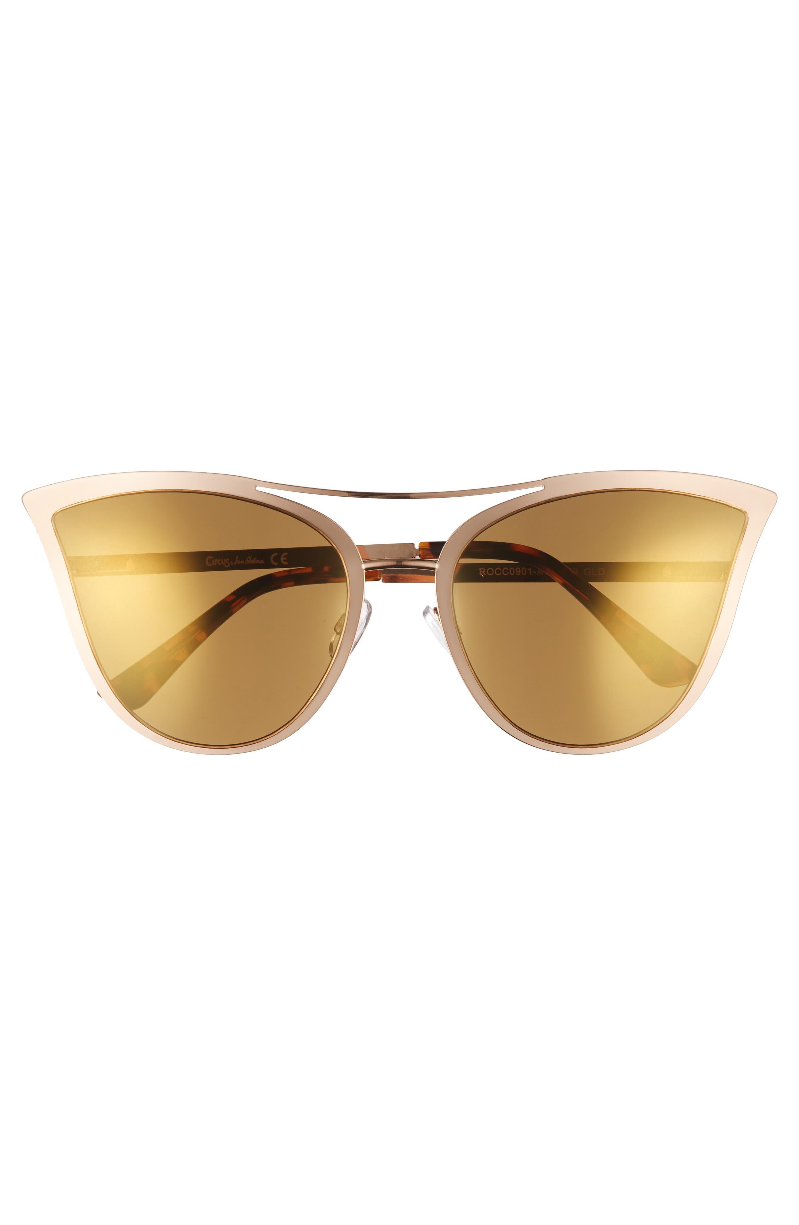 61mm Metal Cat Eye Sunglasses,                             Alternate thumbnail 9, color,