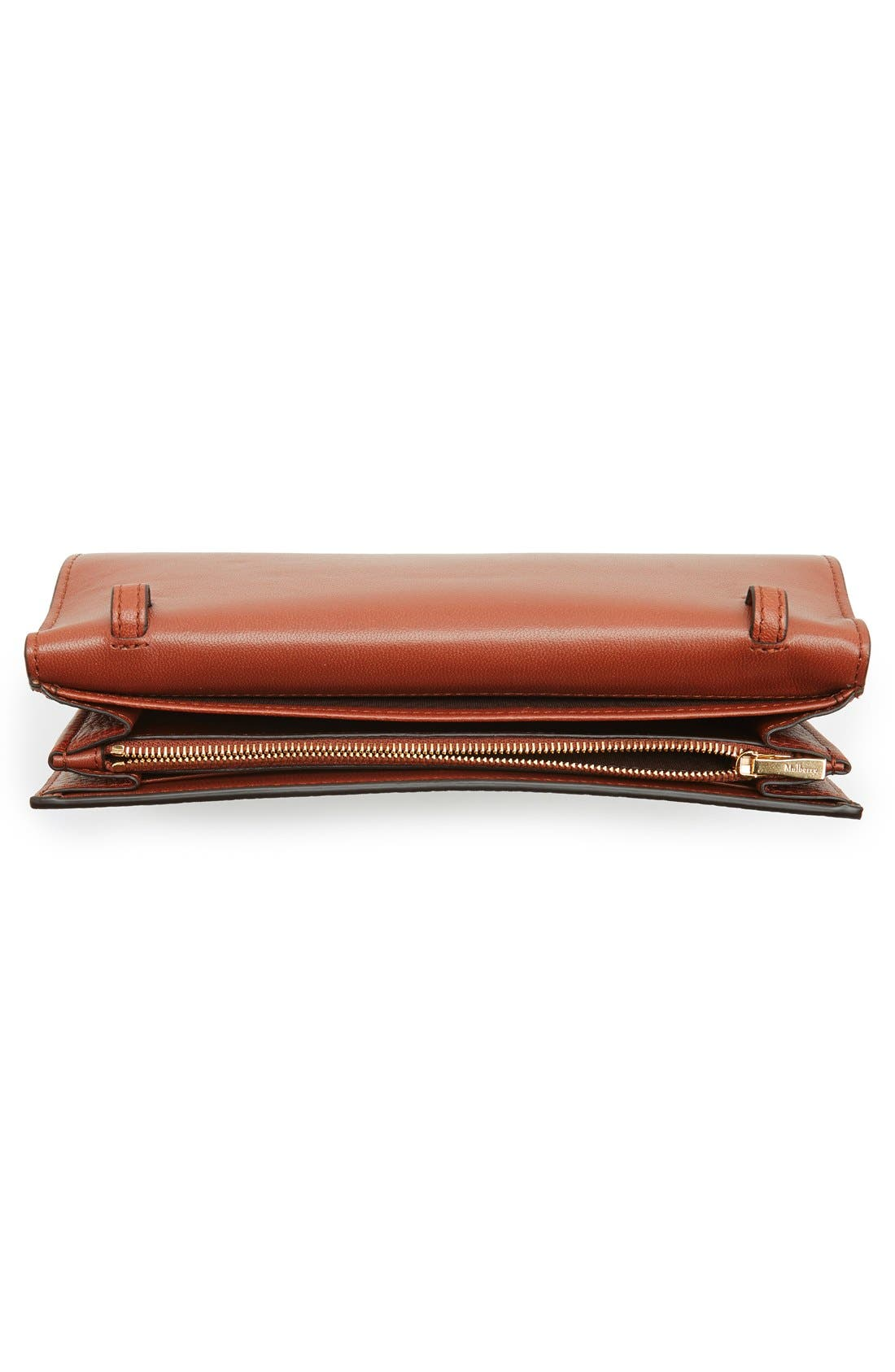 'Continental - Classic' Convertible Leather Clutch,                             Alternate thumbnail 5, color,                             200