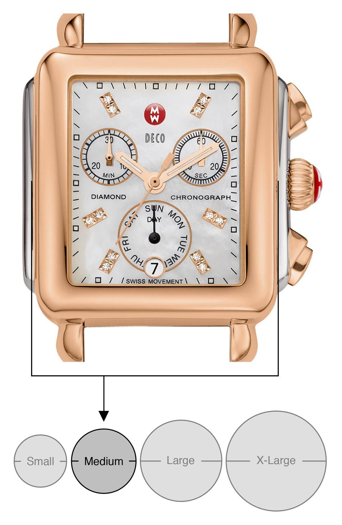 Deco Diamond Diamond Dial Watch Case, 33mm x 35mm,                             Alternate thumbnail 6, color,                             SILVER/ BLACK