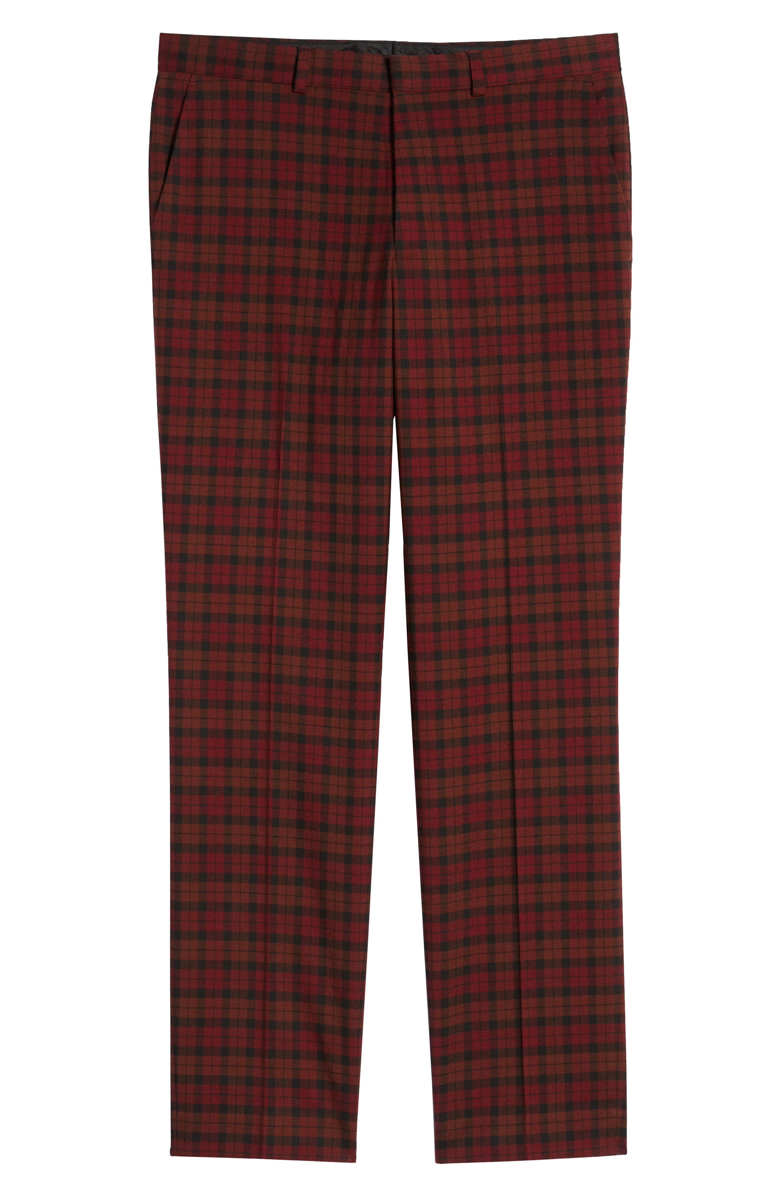 Thorn Slim Fit Trousers,                             Alternate thumbnail 6, color,                             RED MULTI