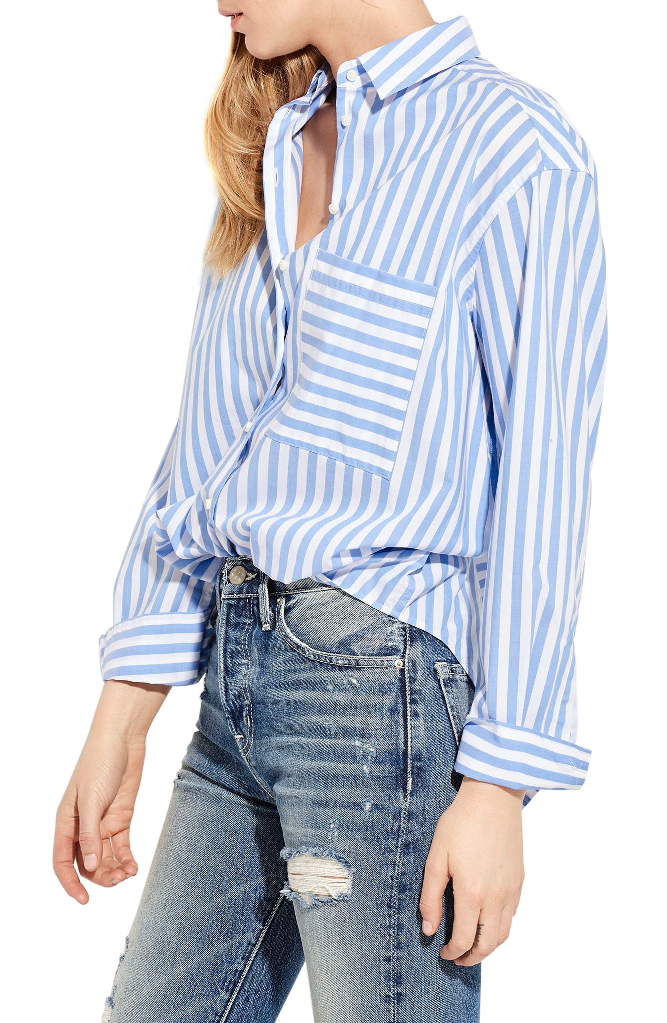 The Deep End Stripe Shirt,                             Alternate thumbnail 3, color,                             401