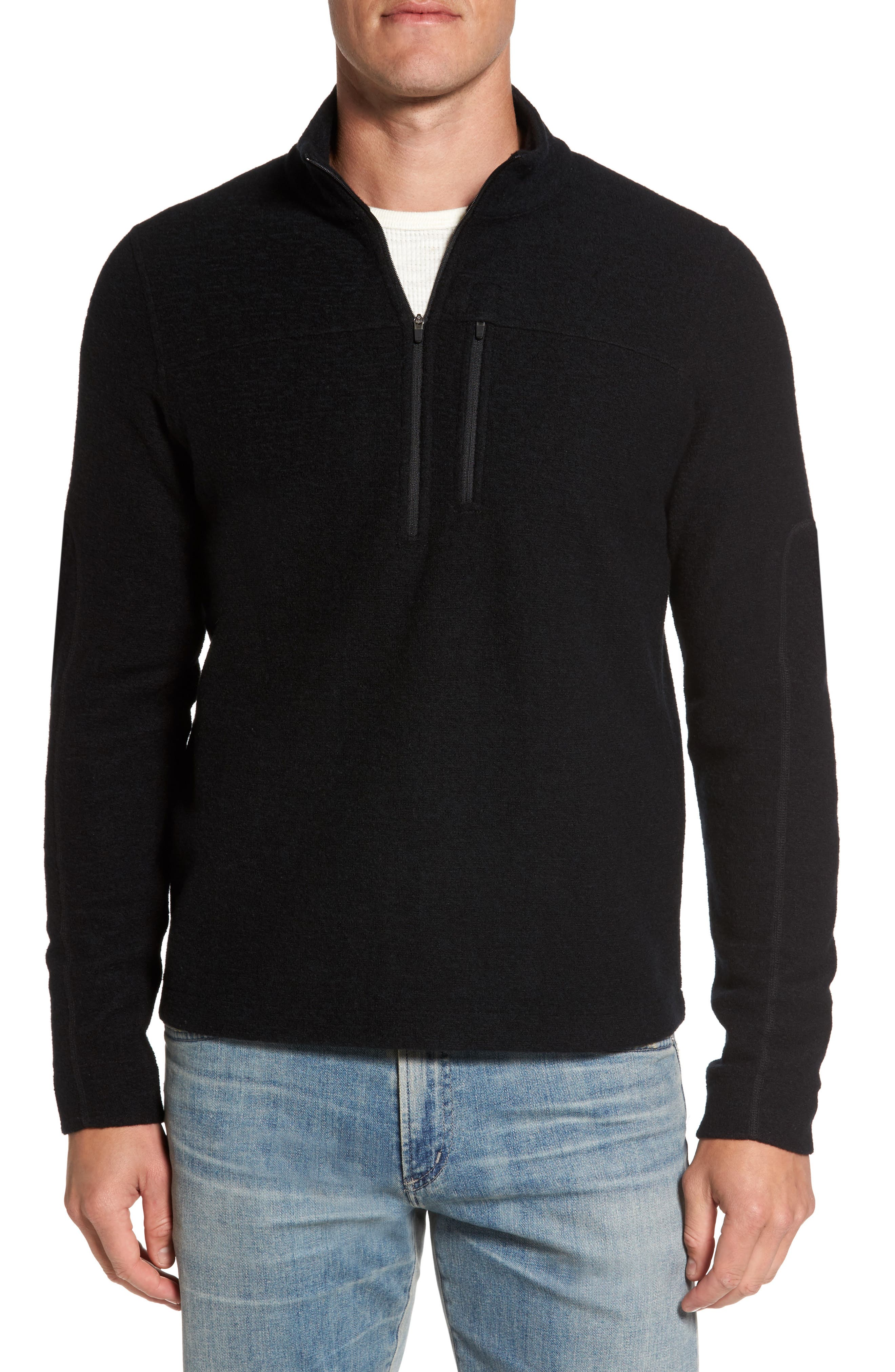 Scout Jura Merino Wool Blend Quarter Zip Pullover,                         Main,                         color, 001