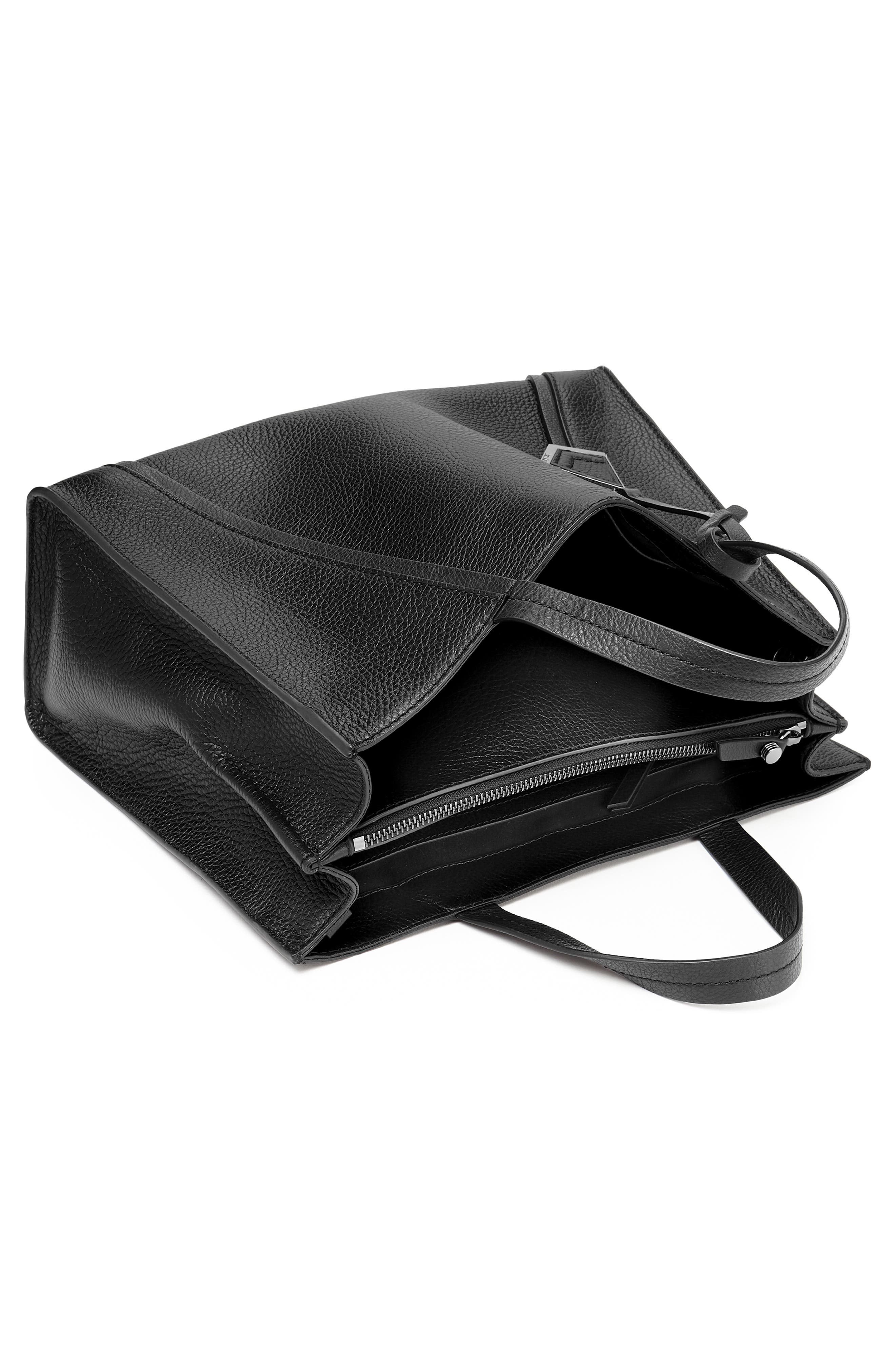 Trinity Leather Satchel,                             Alternate thumbnail 2, color,                             BLACK