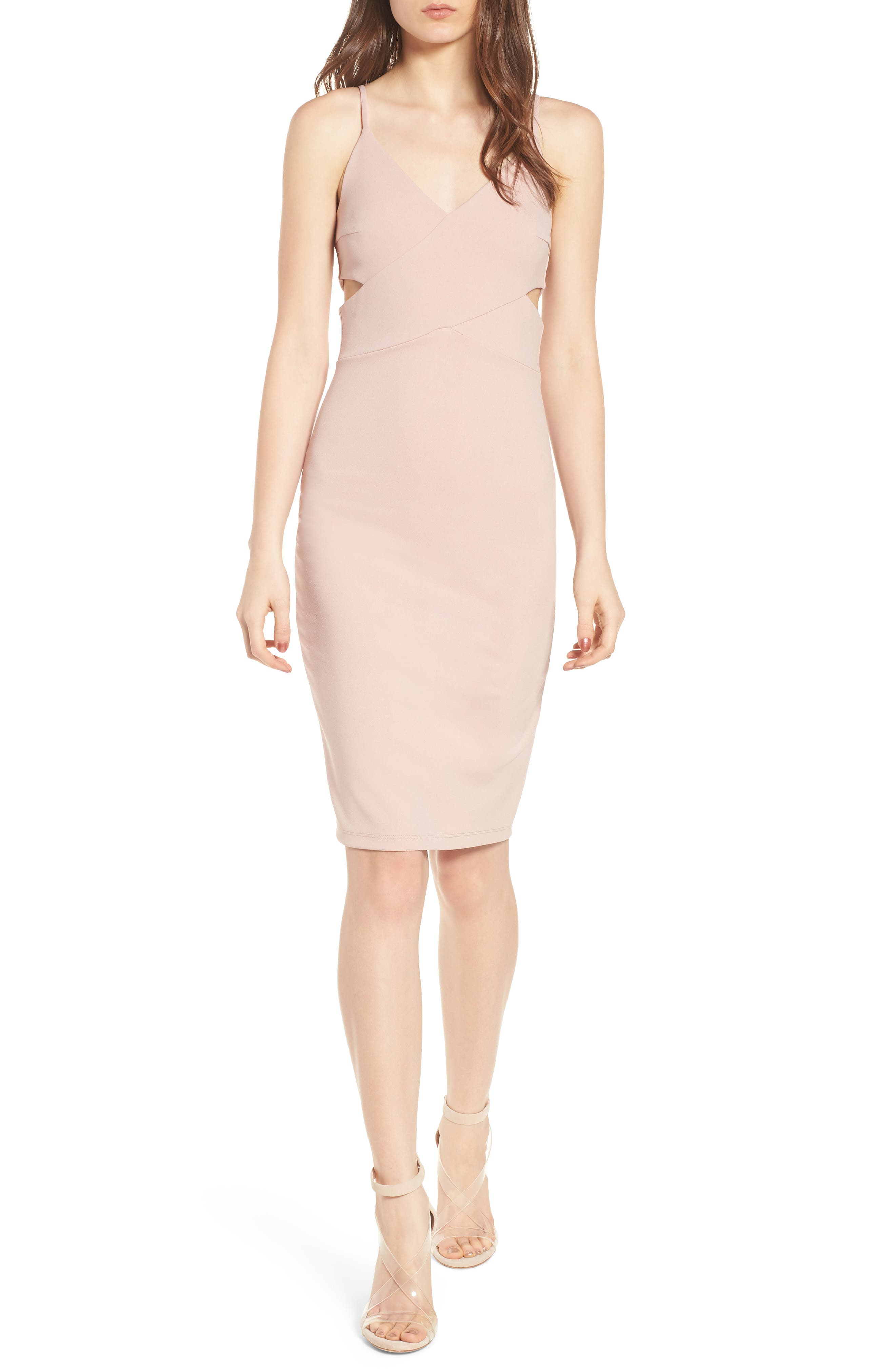 Side Cutout Body-Con Dress,                             Main thumbnail 2, color,