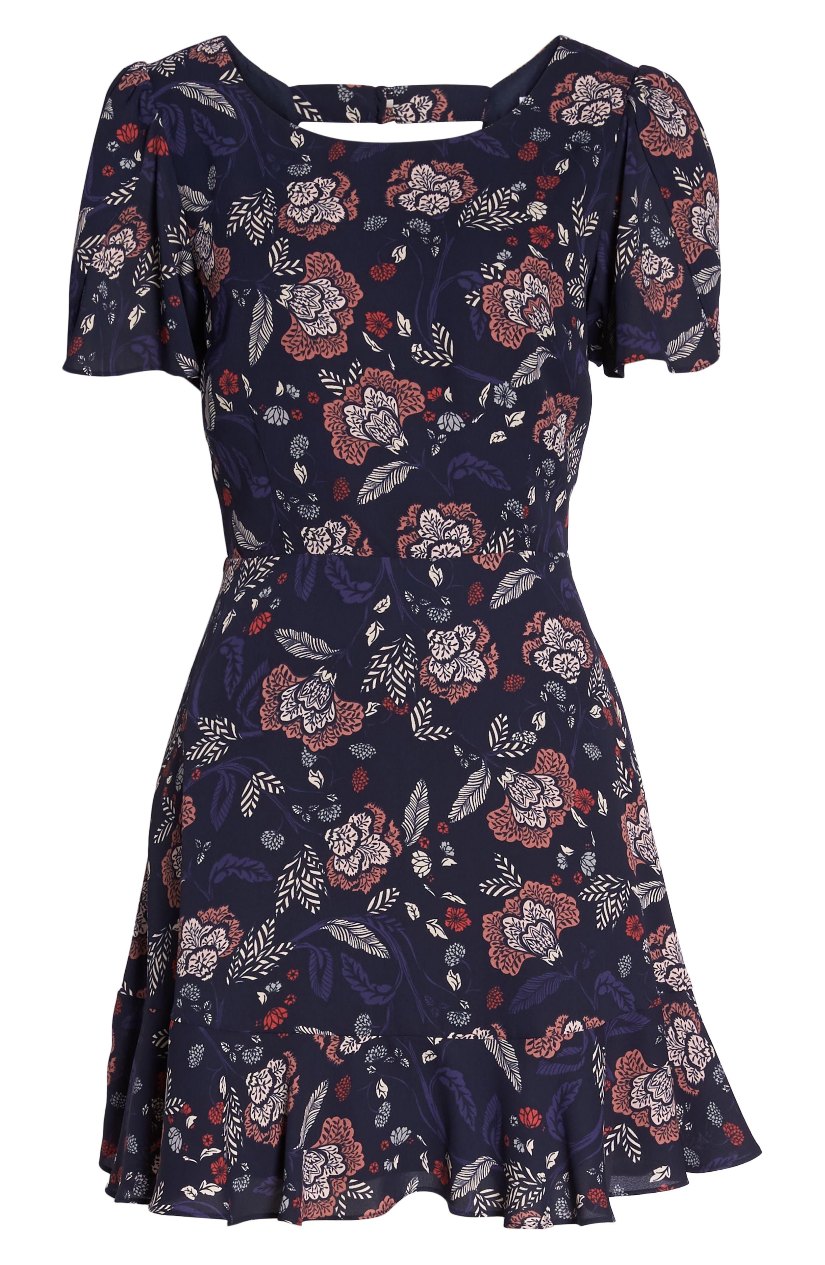 Cassidy Floral Minidress,                             Alternate thumbnail 7, color,                             410