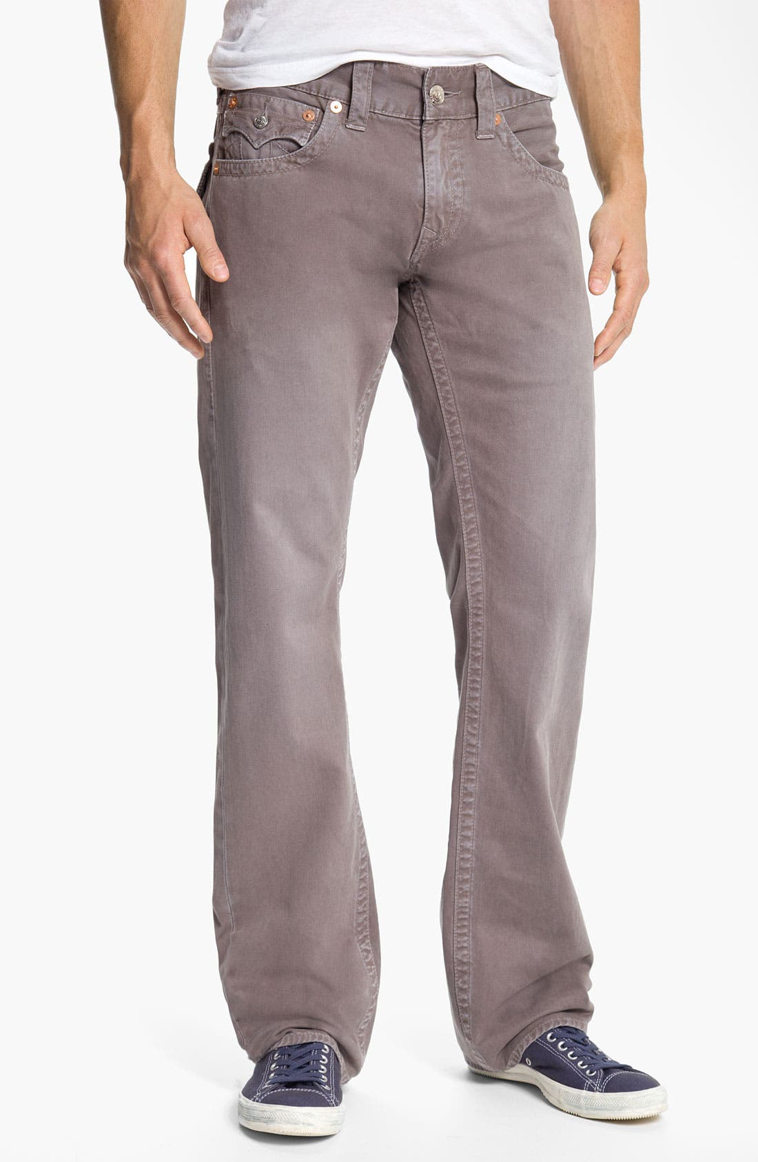 'Ricky' Straight Leg Cotton Twill Pants,                             Alternate thumbnail 3, color,                             027