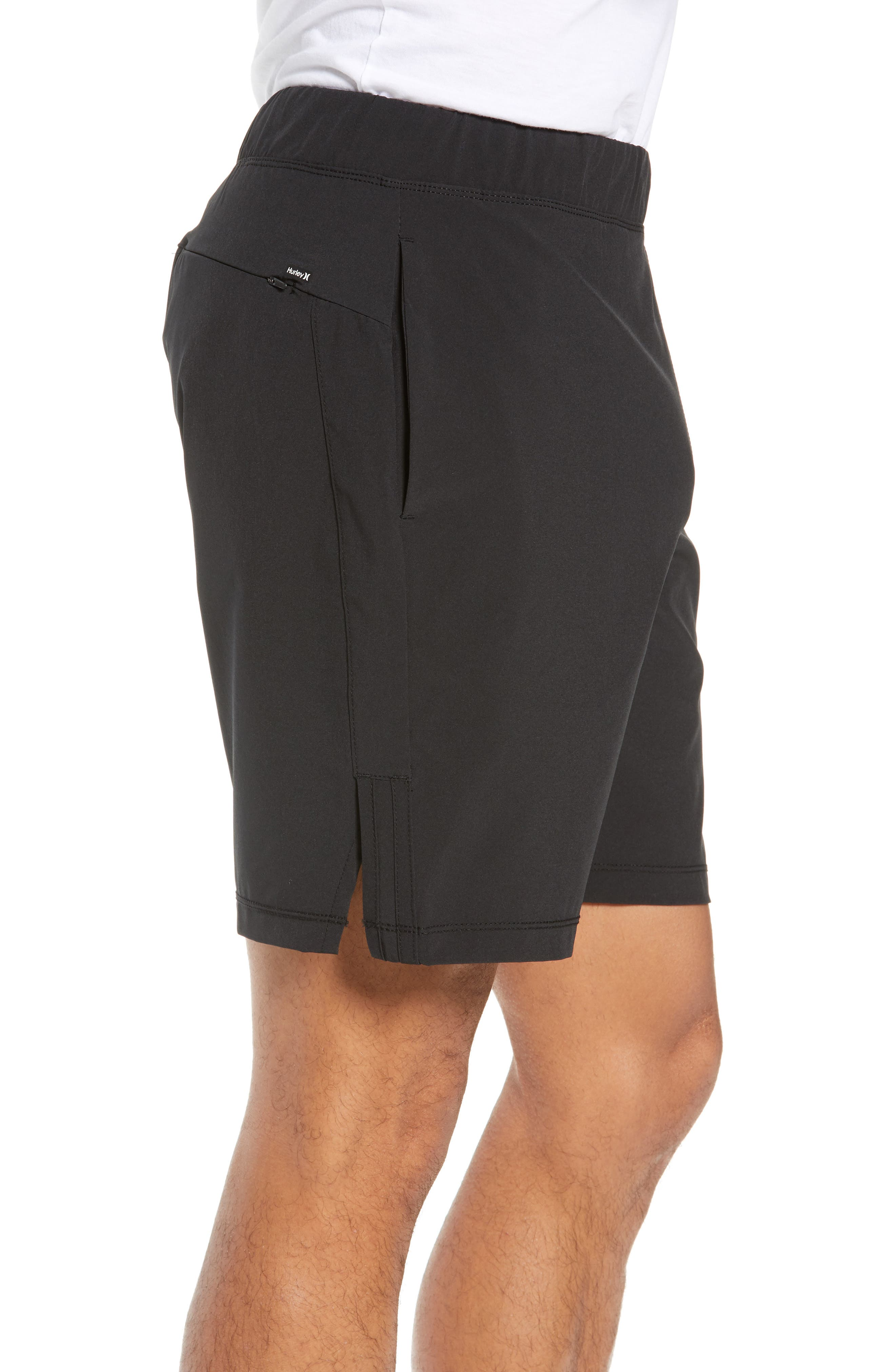 Alpha Trainer 2.0 Recycled Polyester Shorts,                             Alternate thumbnail 3, color,                             BLACK