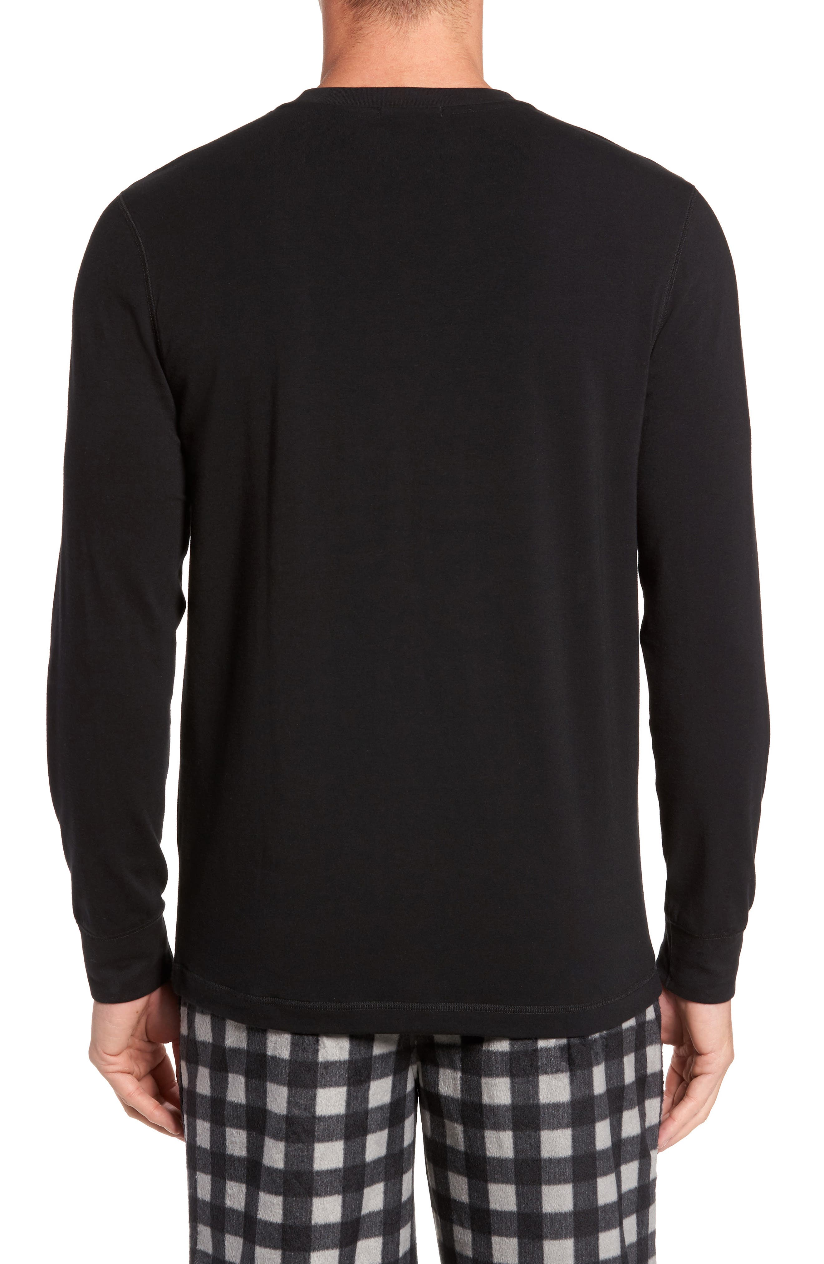 Stretch Cotton Long Sleeve T-Shirt,                             Alternate thumbnail 2, color,                             001