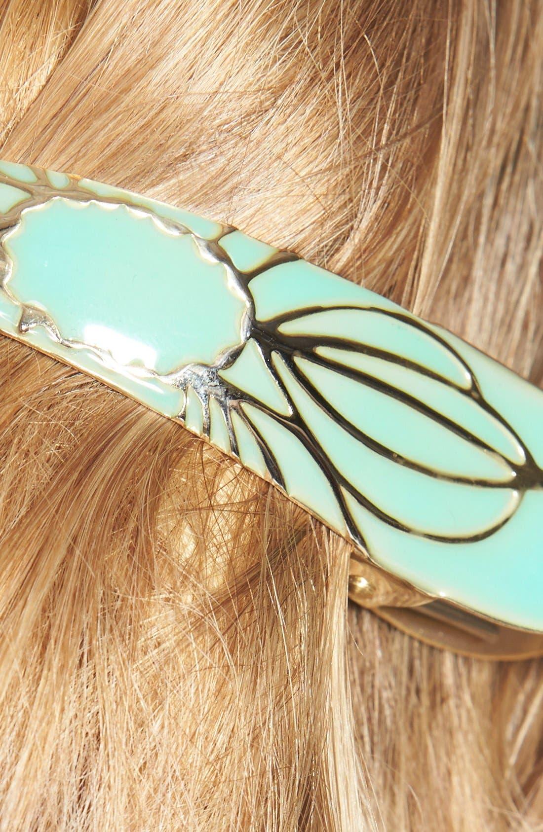 Maximas Lotus Hair Clip,                             Alternate thumbnail 2, color,                             OPAL