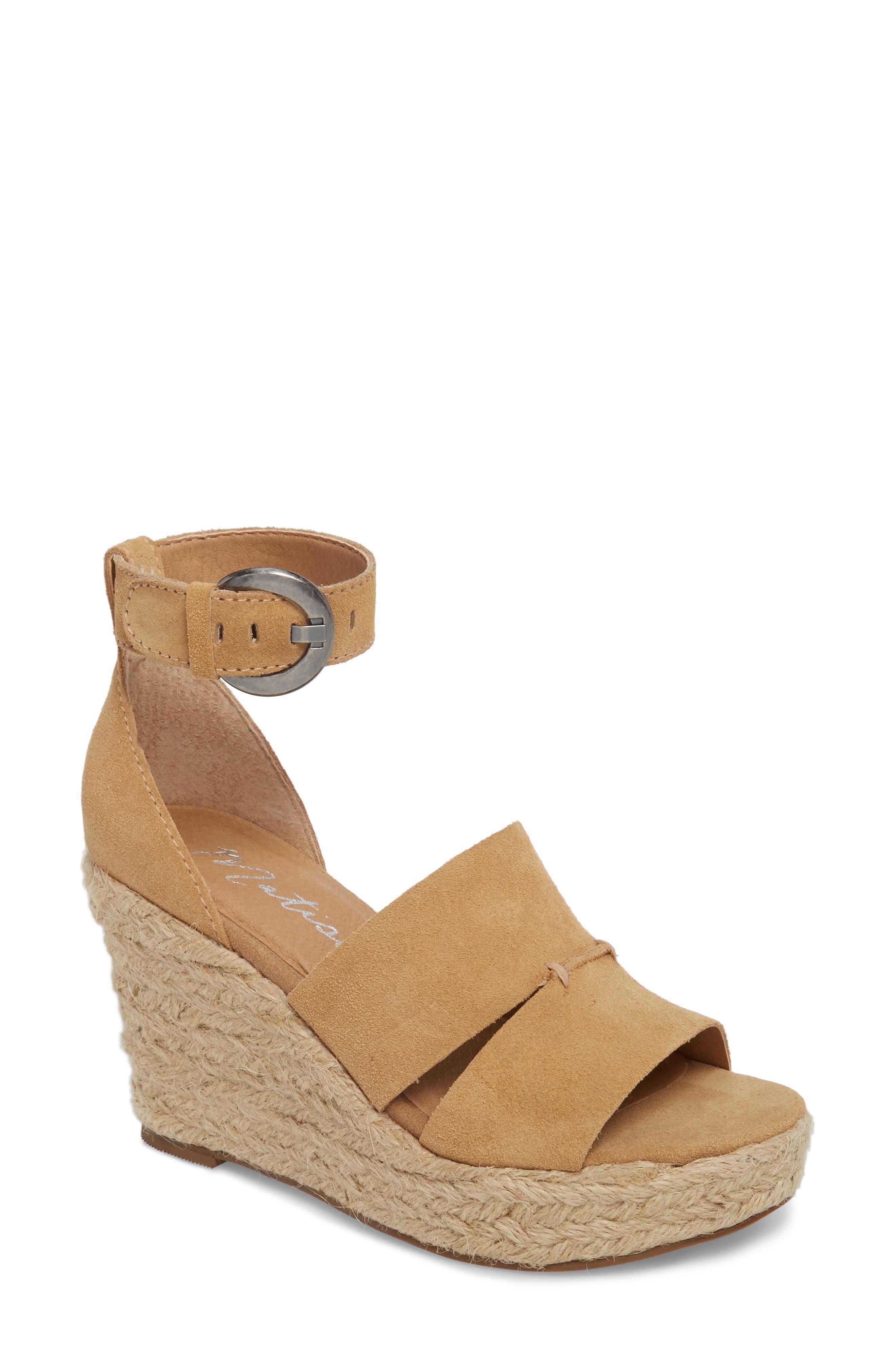 Matisse Cha Cha Espadrille Wedge Sandal, Beige