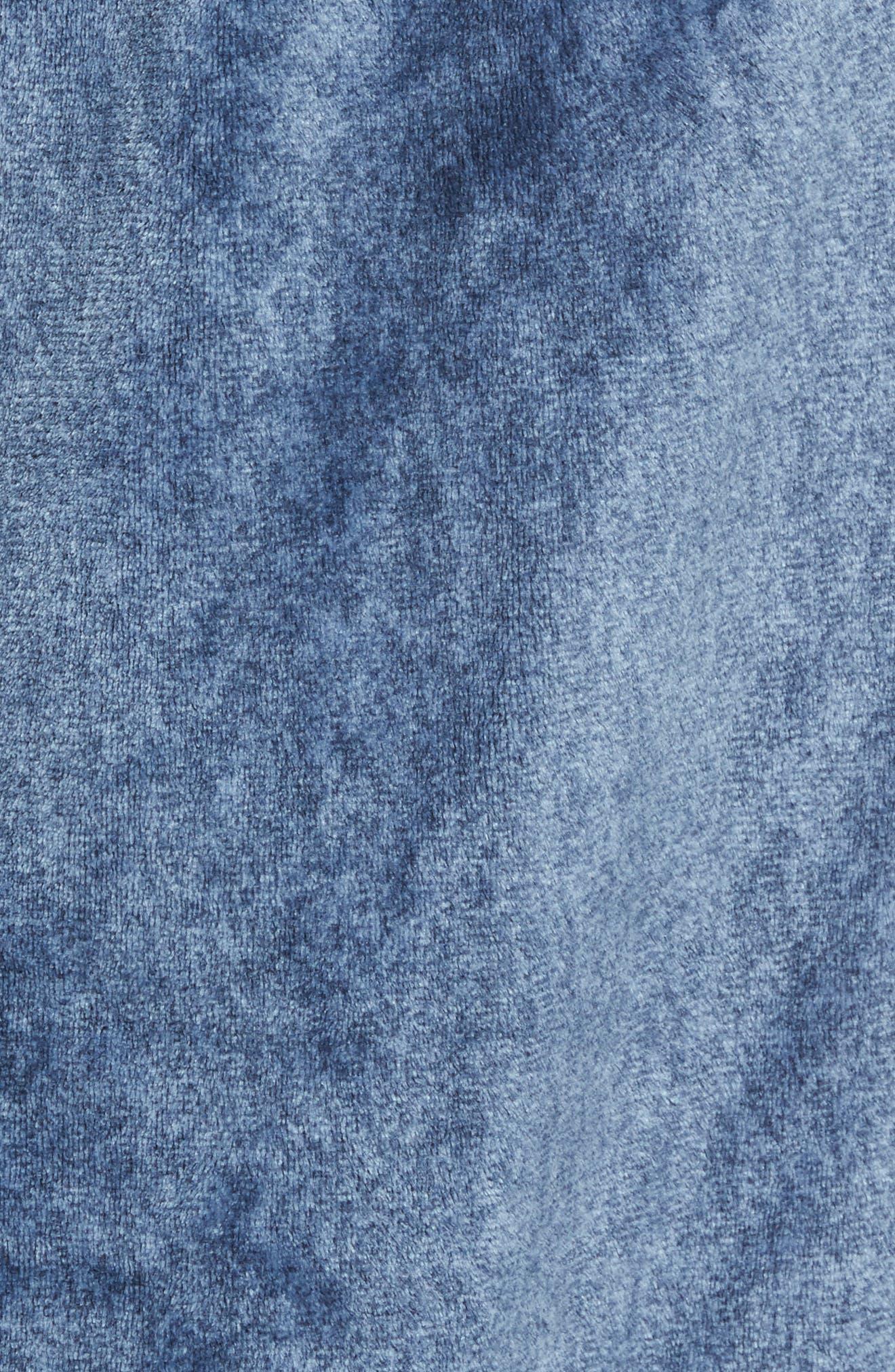 Heathered Fleece Robe,                             Alternate thumbnail 5, color,                             BLUE CORONET