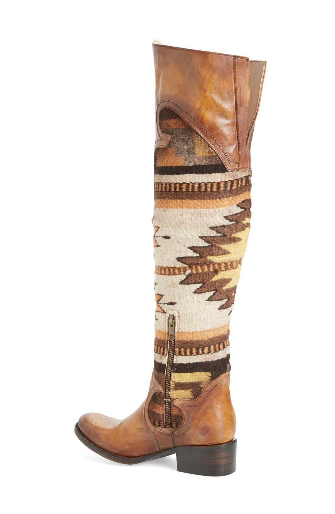 Sun Over the Knee Boot,                             Alternate thumbnail 5, color,