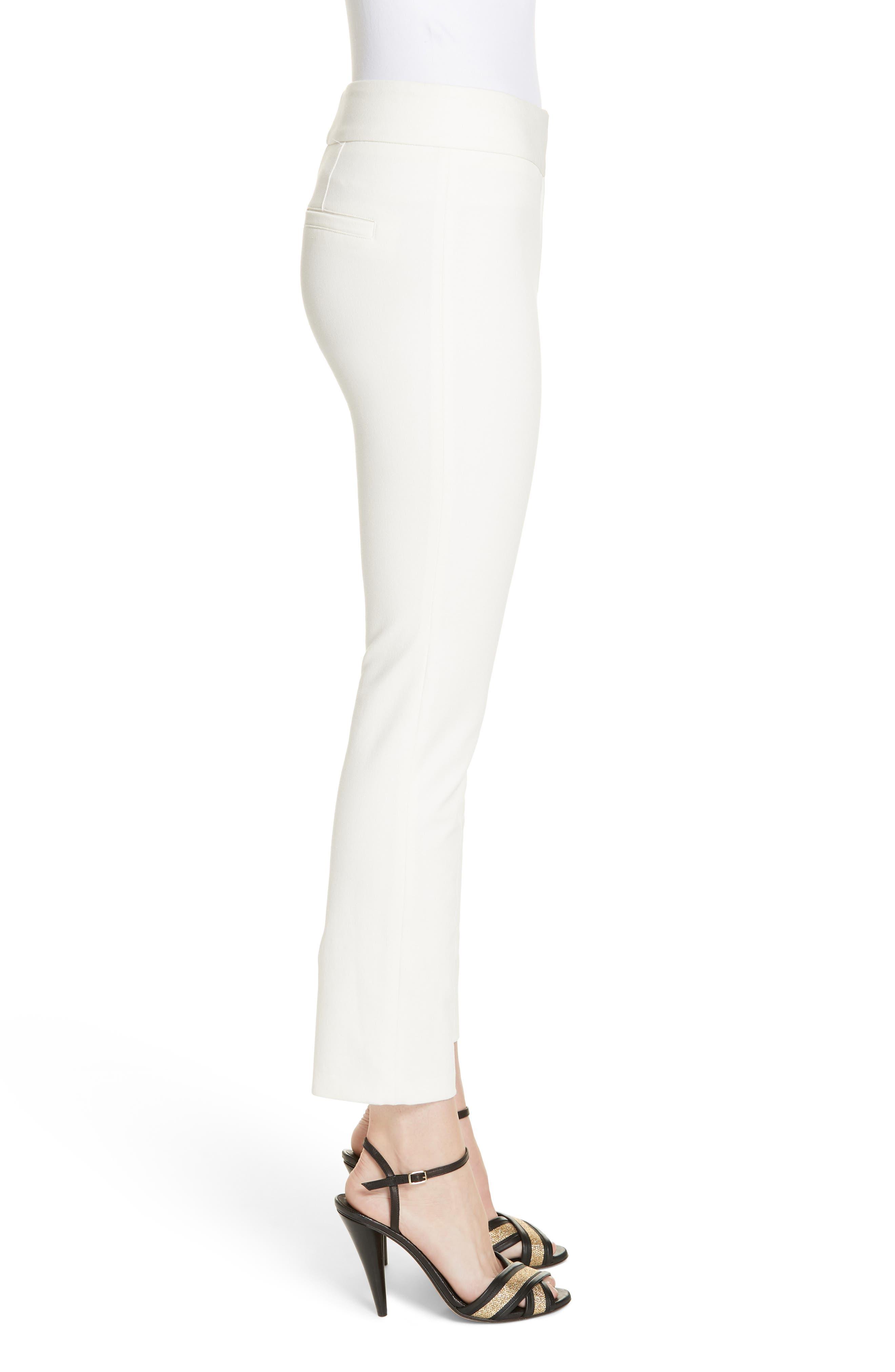 Rumi Slim Leg Pants,                             Alternate thumbnail 3, color,                             OFF-WHITE