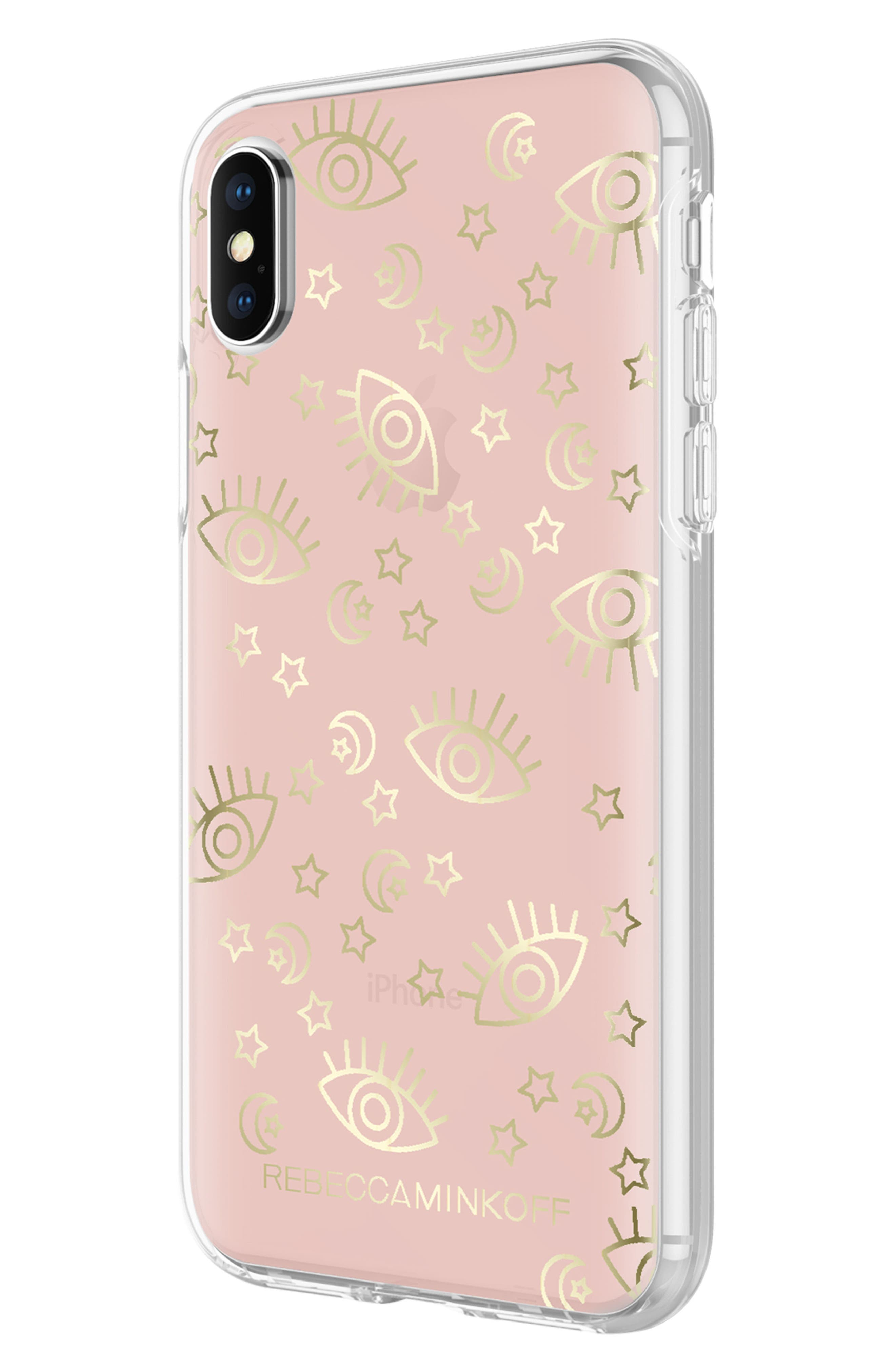 Metallic Galaxy Icon iPhone X/Xs Case,                             Alternate thumbnail 5, color,                             ROSE GOLD/ GOLD FOIL