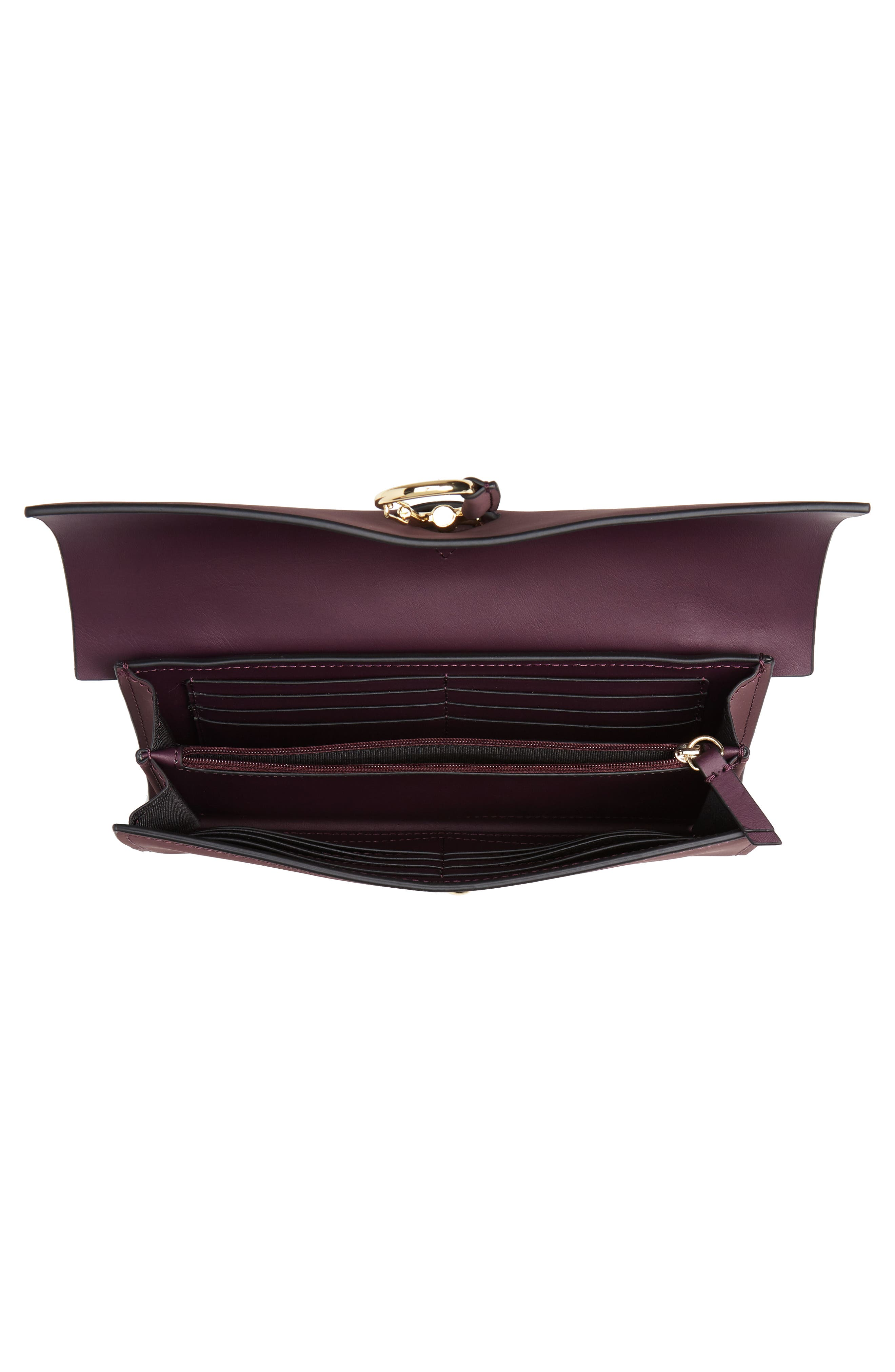 Belay Convertible Leather Clutch,                             Alternate thumbnail 4, color,                             VINEYARD